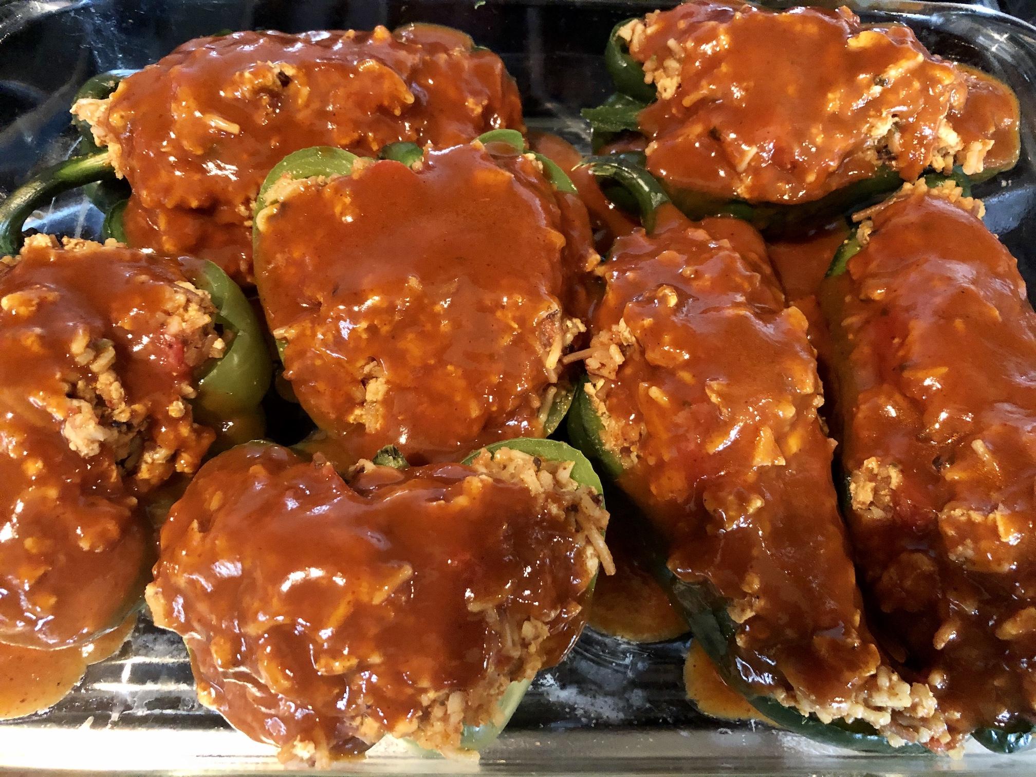 Taco Stuffed Poblano Peppers