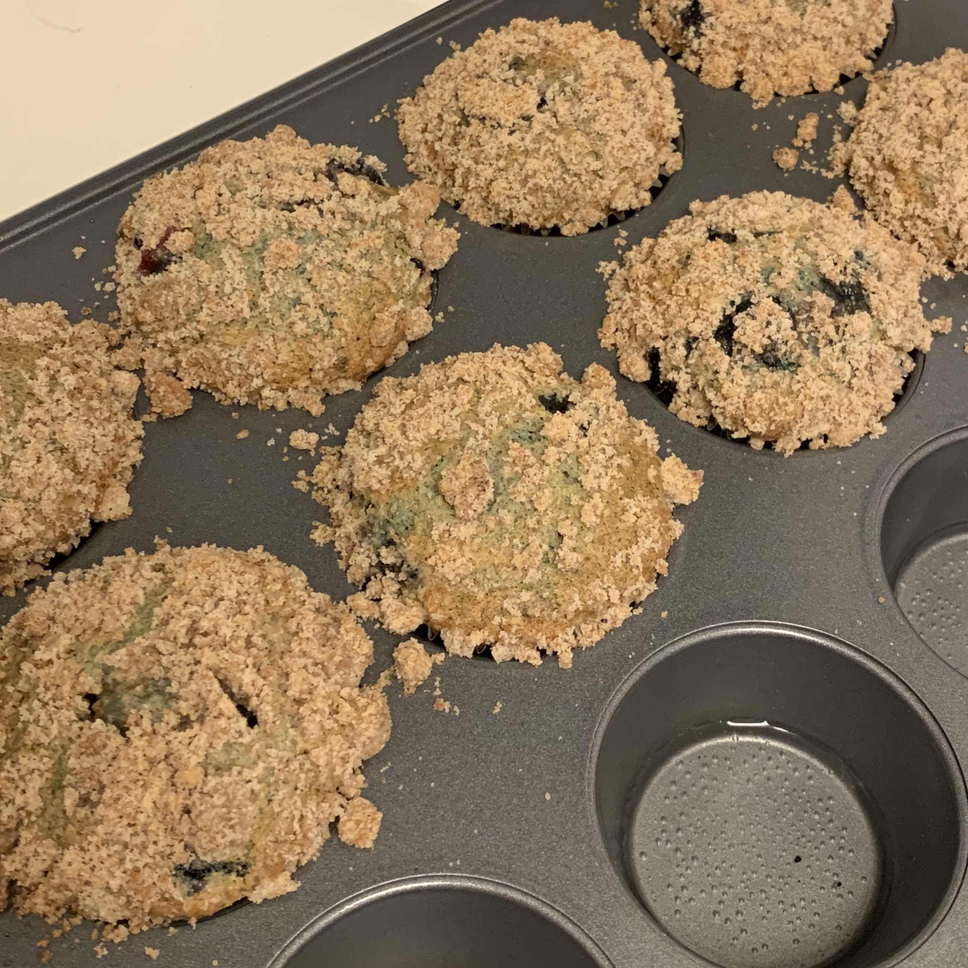 Sour Cream Blueberry Muffins cscott