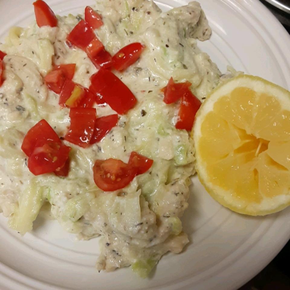 Lemon Herb Chicken with Zucchini Pasta and Ricotta