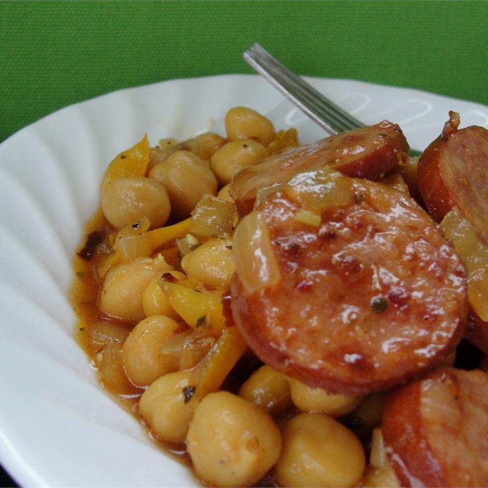 Cuban Smoked Sausage with Chickpeas