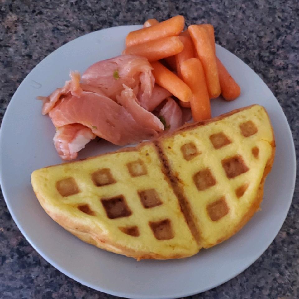 Chaffles with Almond Flour KharisBee