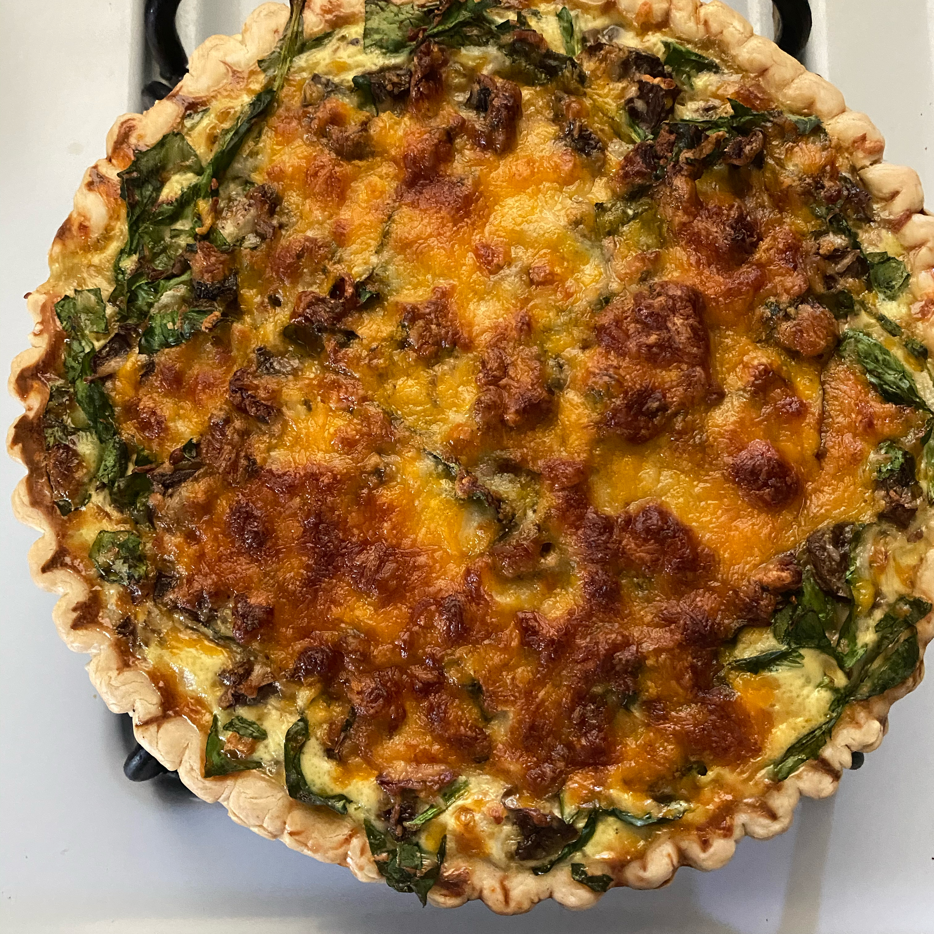 Belle and Chron's Spinach and Mushroom Quiche Tonya Pickering