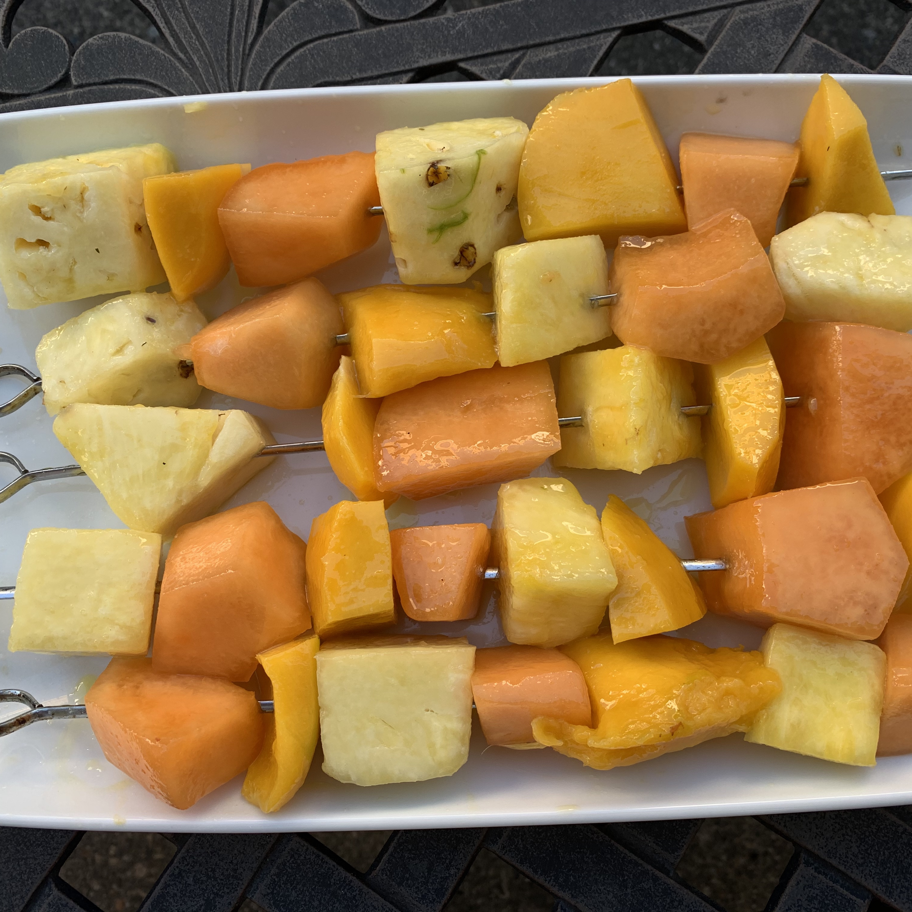 Skewered Cantaloupe joe