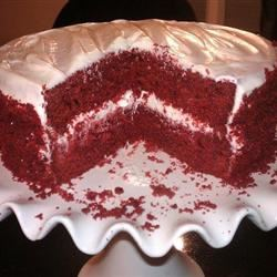 Homemade Red Velvet Cake with Cream Cheese Frosting