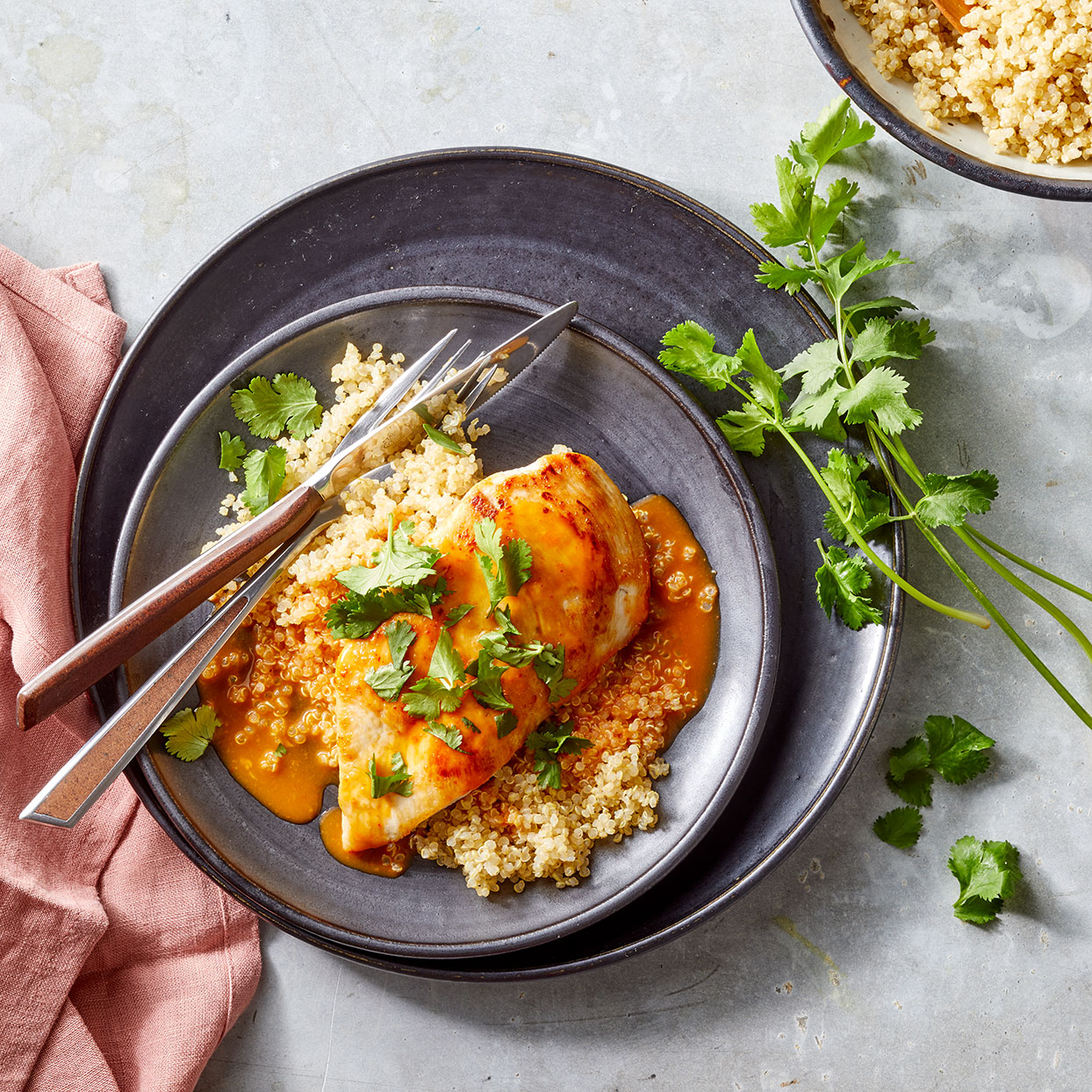 This easy chicken cutlet recipe will help you get a healthy meal on the table in just 20 minutes. Coconut milk's creamy consistency is perfect for making quick pan sauces--no need to add a thickener. Source: EatingWell Magazine, May 2020