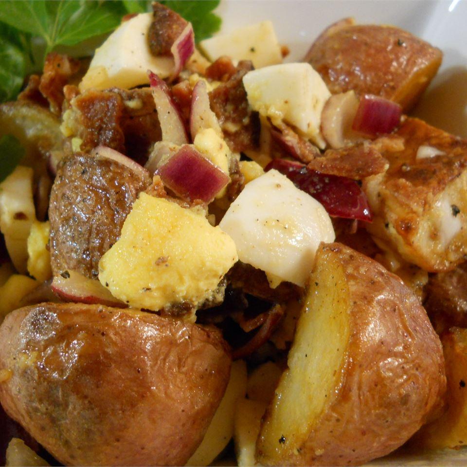 Roasted Potato Salad with Balsamic-Bacon Vinaigrette
