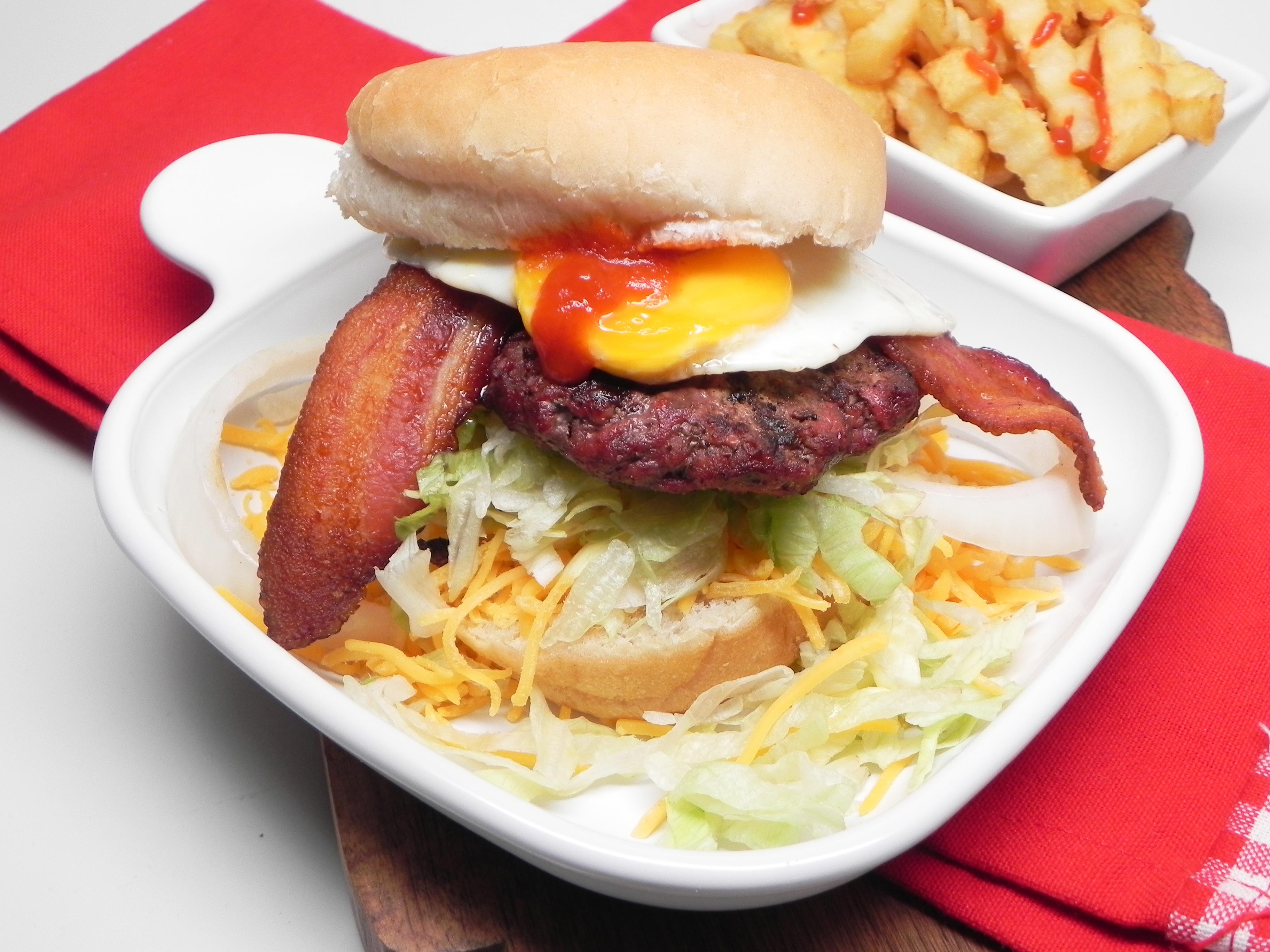 Over-Easy Egg Hamburgers