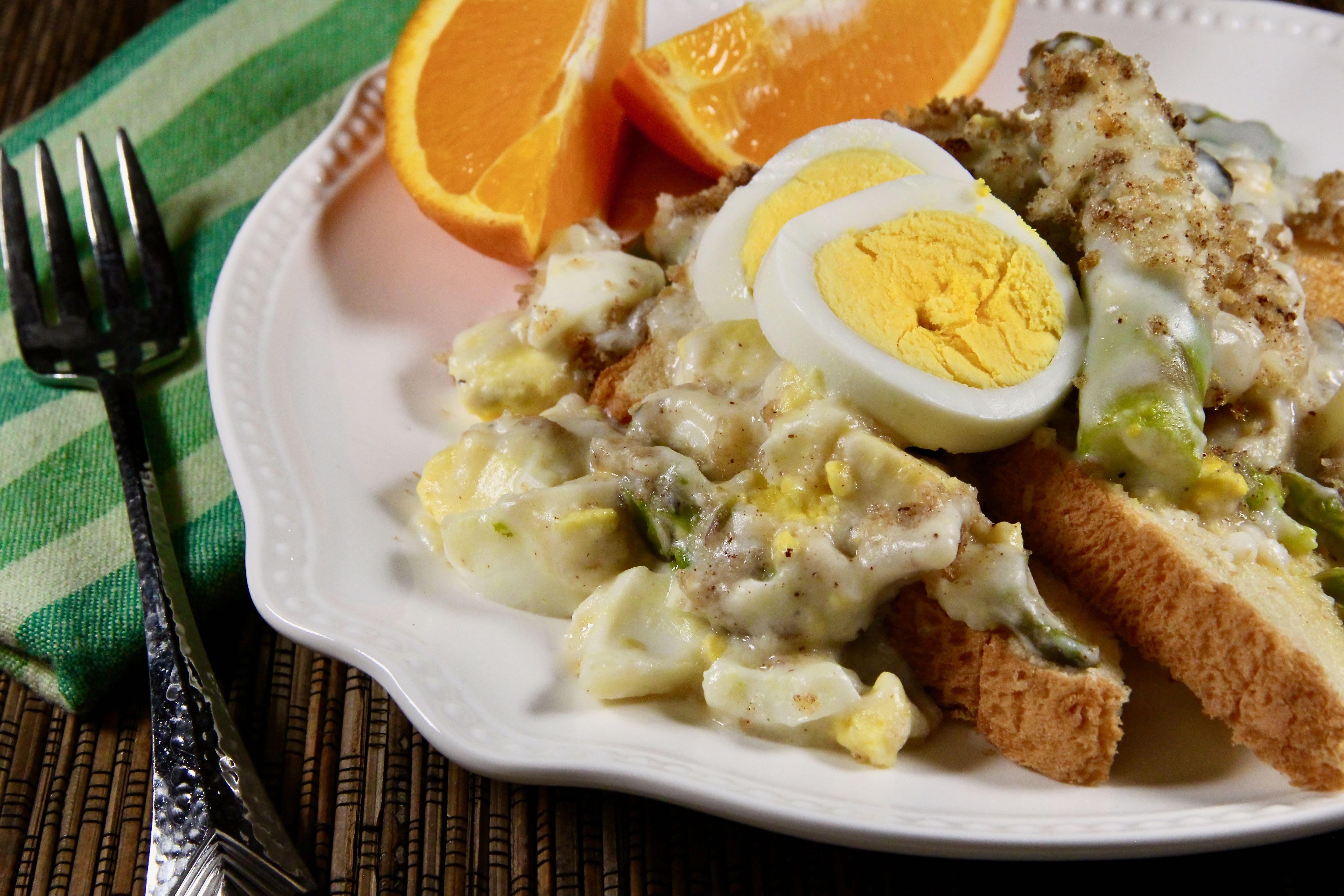 Asparagus Casserole with Hard-Boiled Eggs