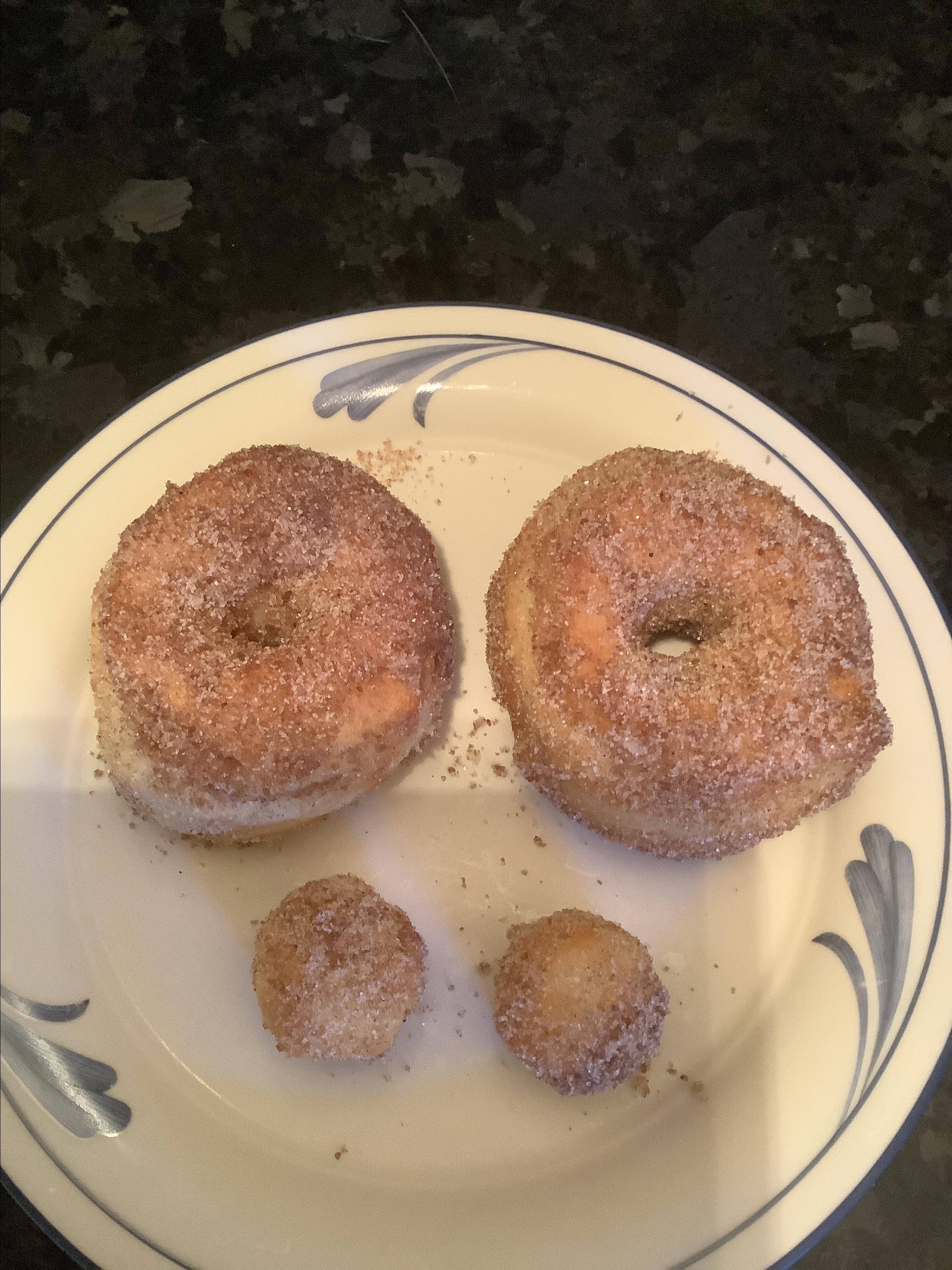 Air Fryer Cinnamon-Sugar Doughnuts Nancy