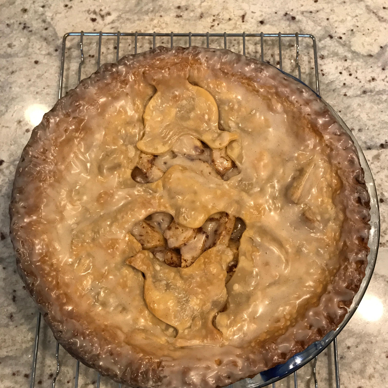 Glazed Apple Cream Pie DoriBcookin