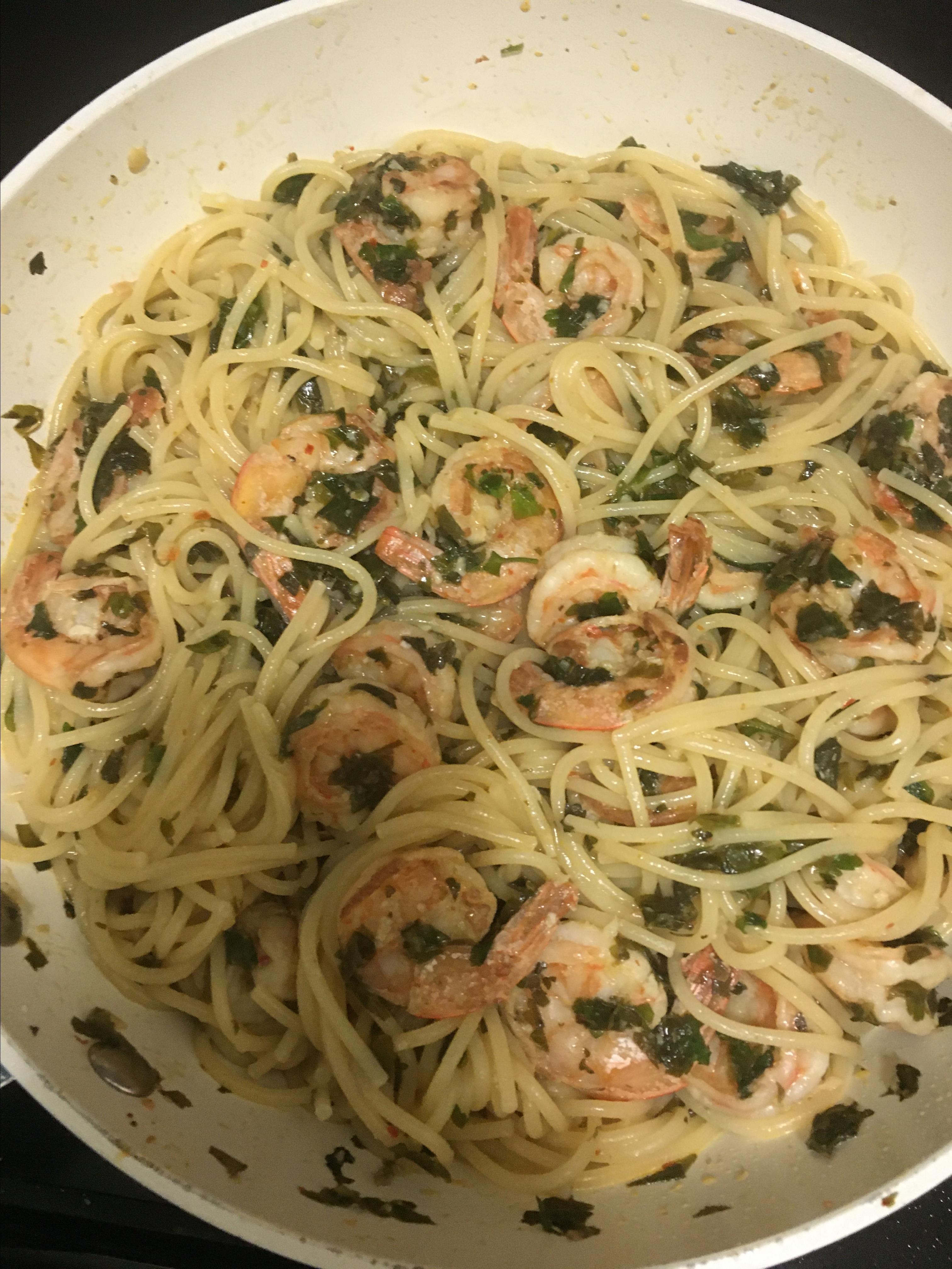 Simple Garlic Shrimp Joelle R