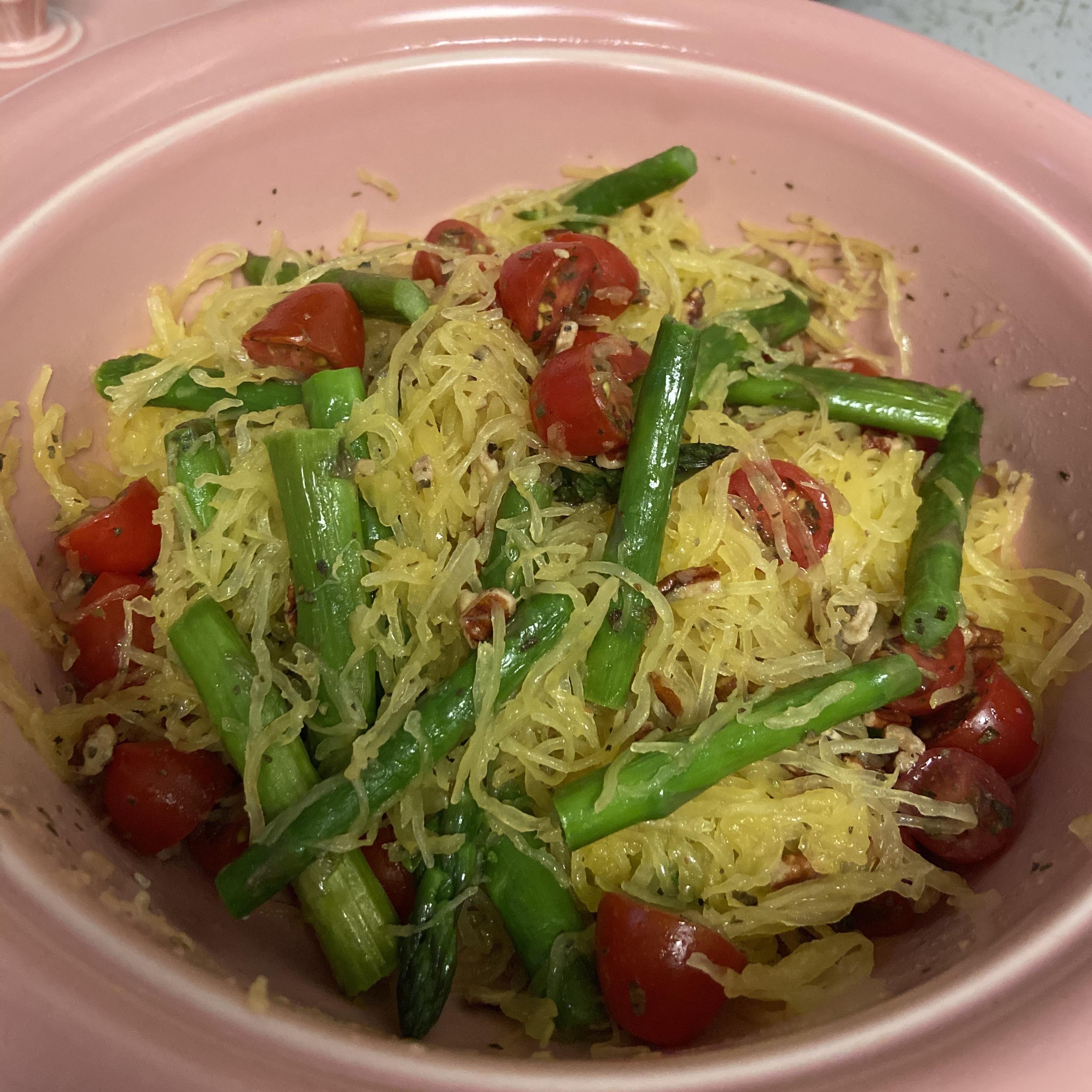 Spaghetti Squash with Asparagus Simone Frame