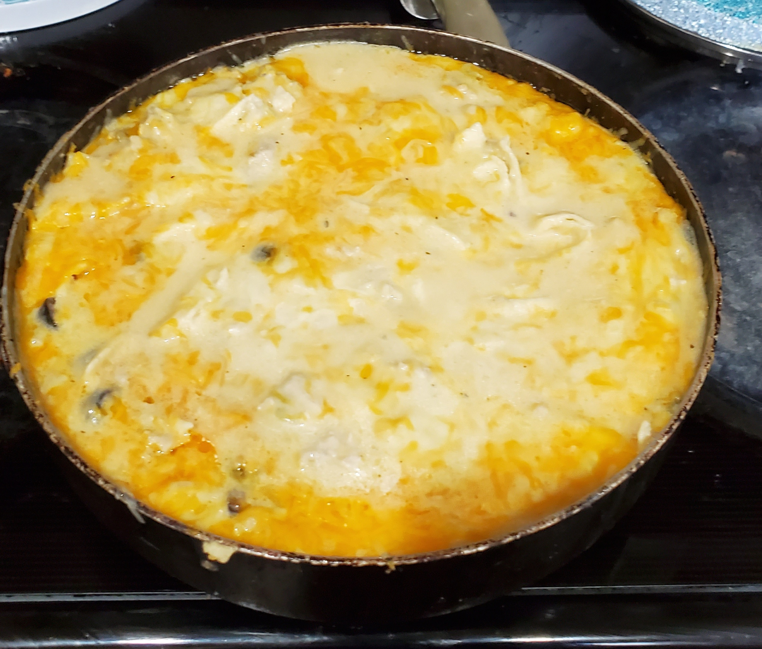 One-Pan Sour Cream Chicken Enchilada Skillet