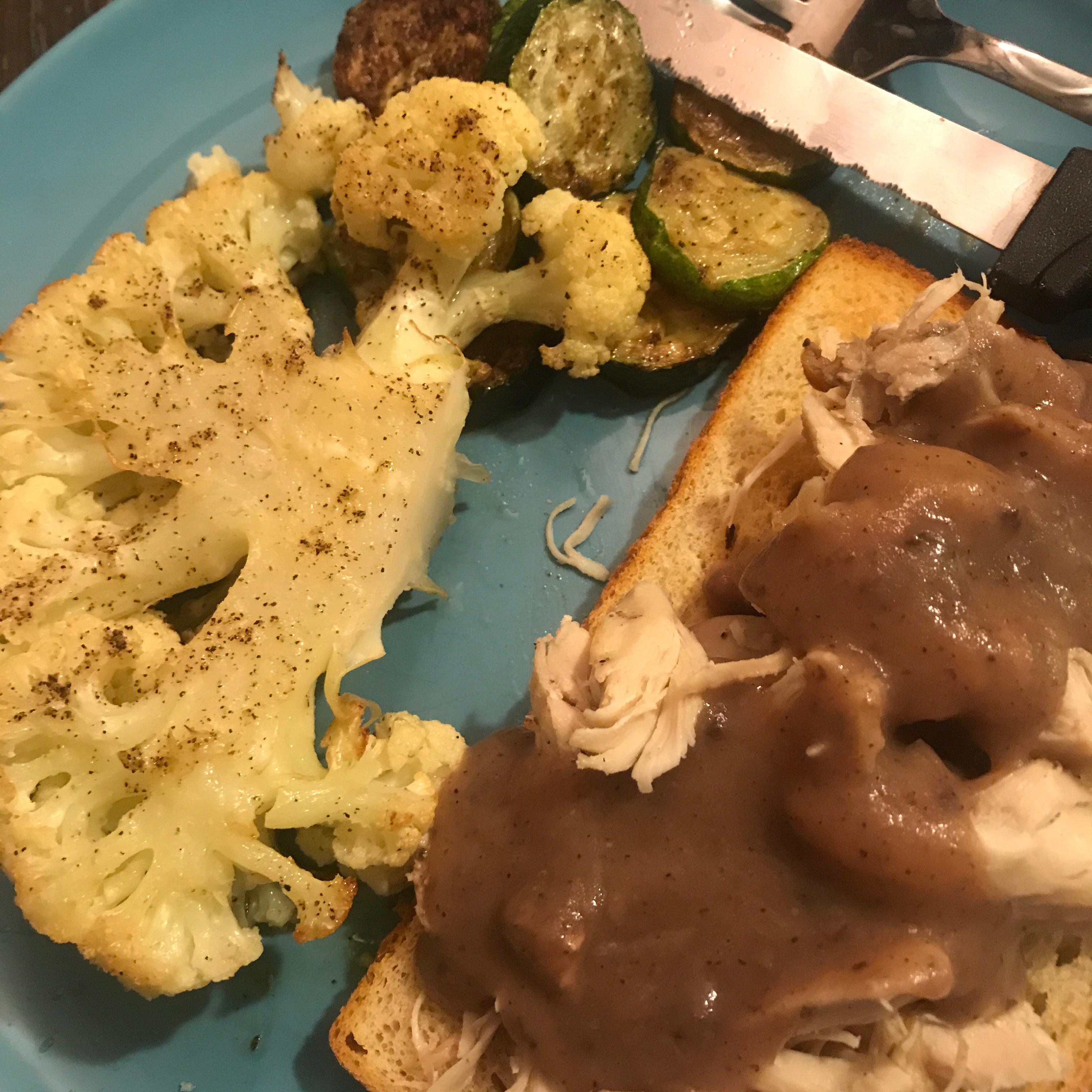 Roasted Cauliflower 'Steaks' Chris Deaton