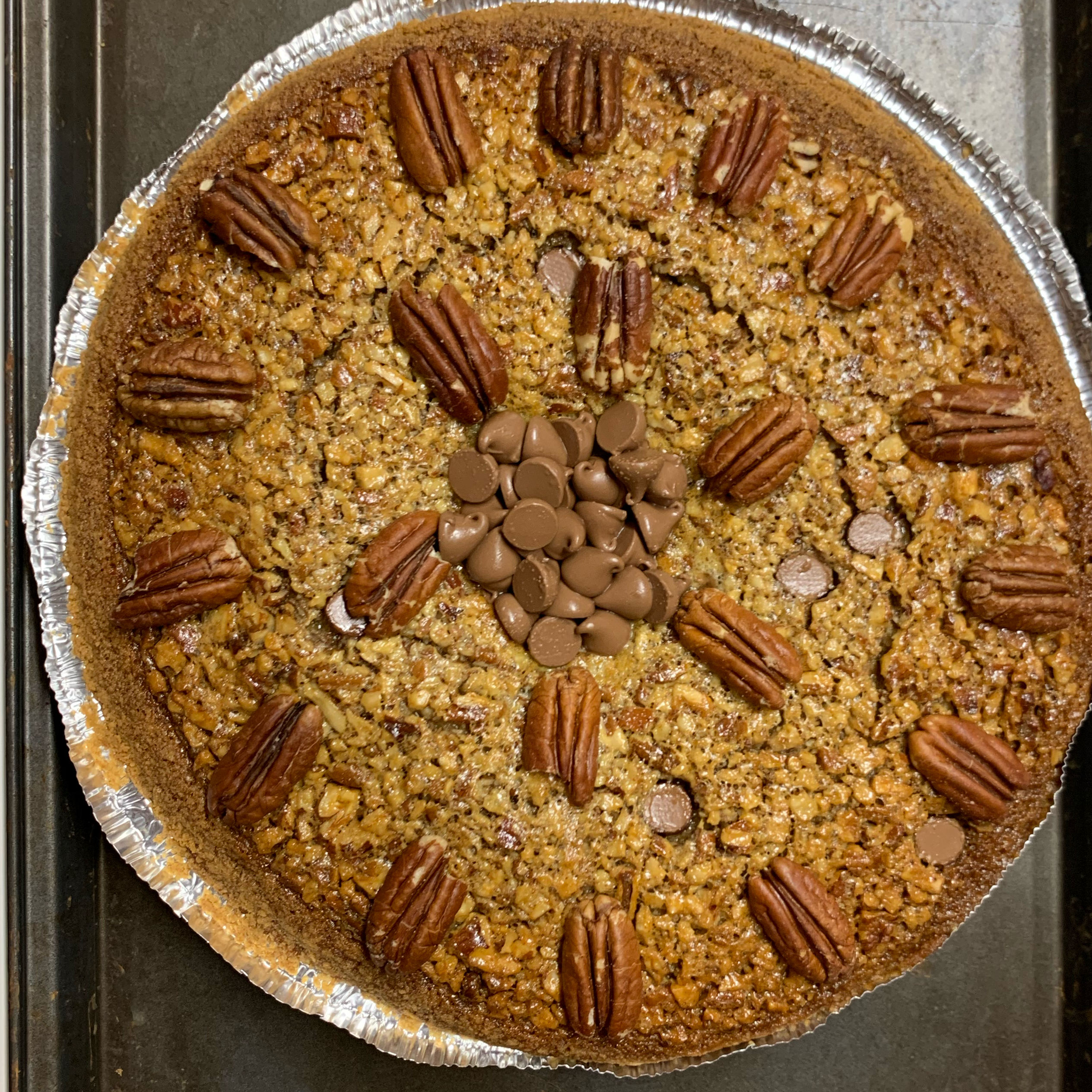 Chocolate Chip Kahlua® Pecan Pie Chelie