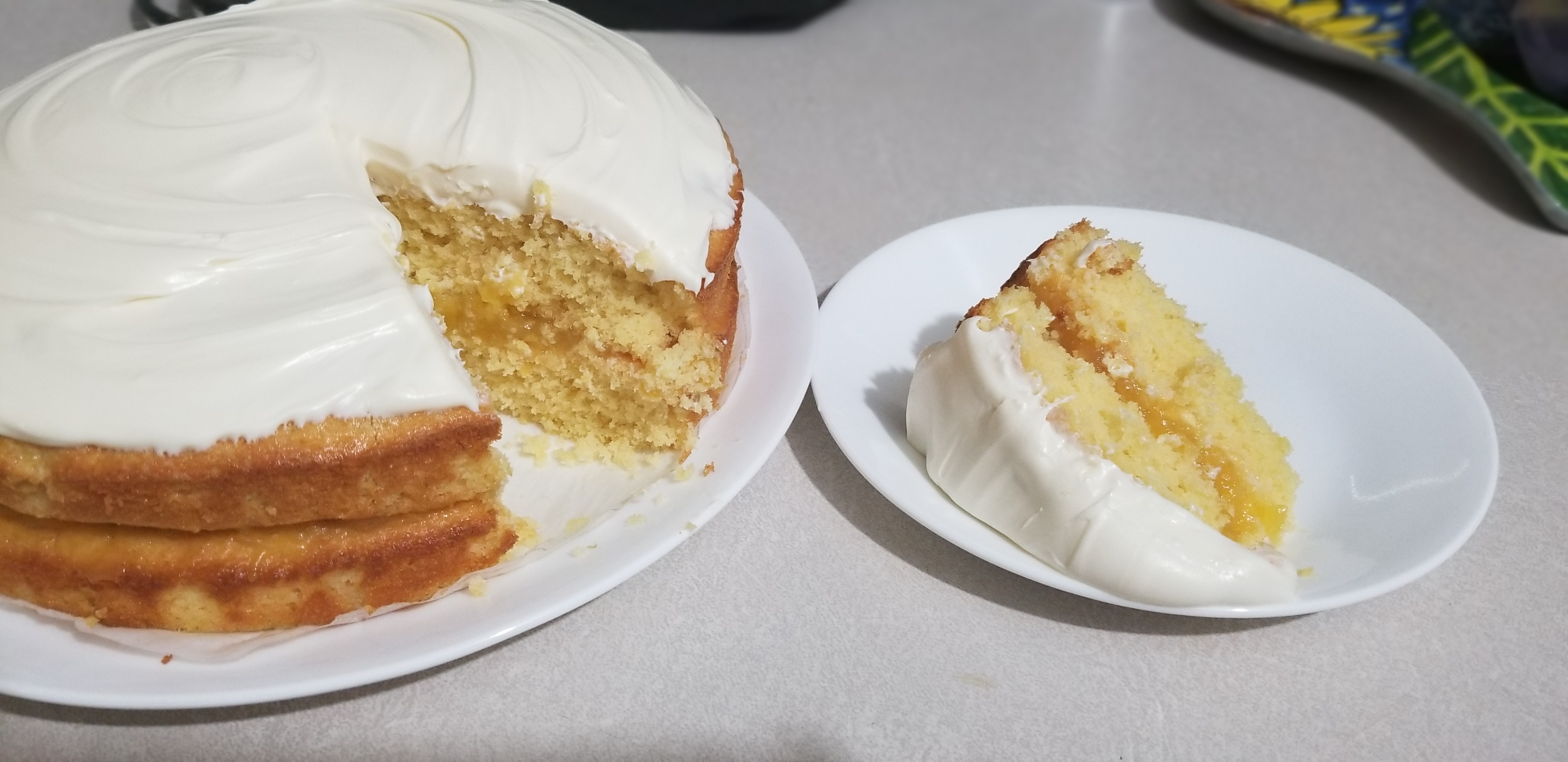 Whole Lemon Layer Cake Stephanie R