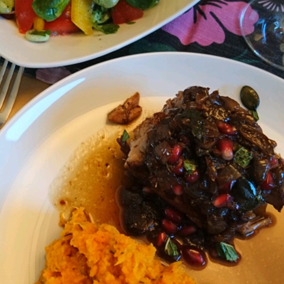 Lamb Braised in Pomegranate