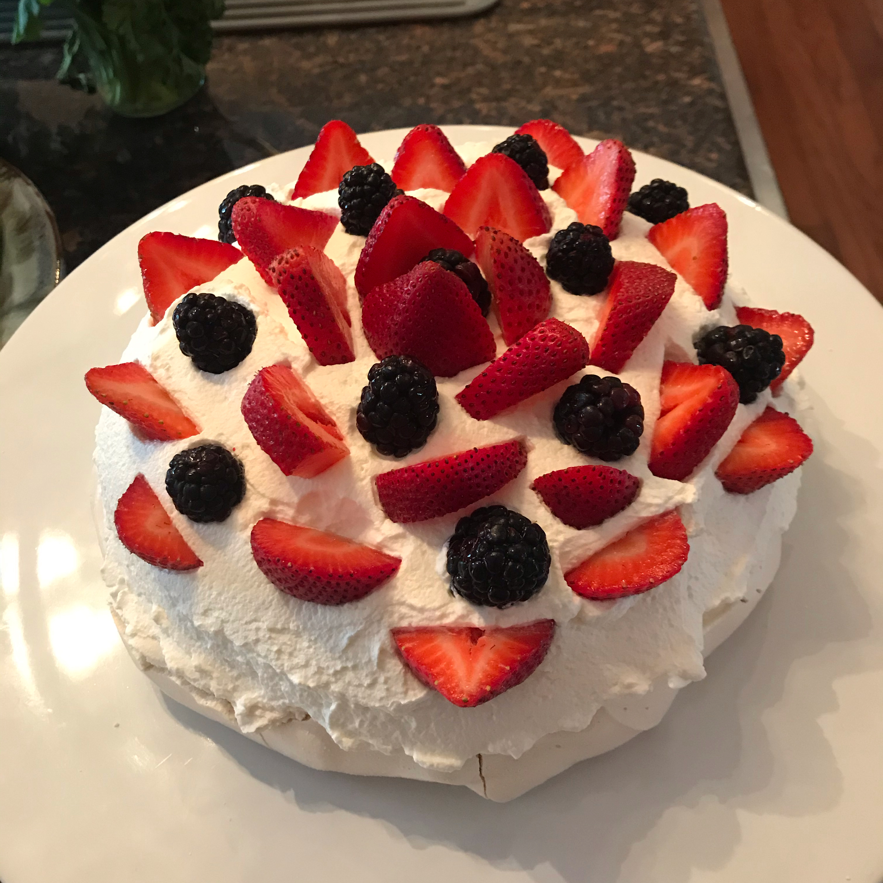 Chef John's Pavlova with Strawberries