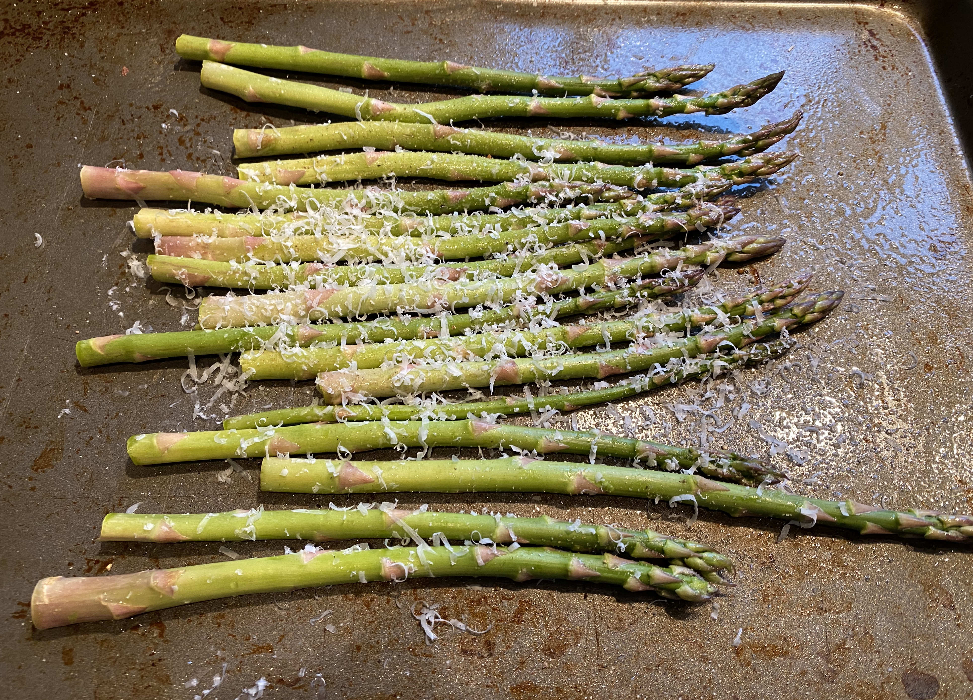 Roasted Asparagus with Parmesan Tanzi