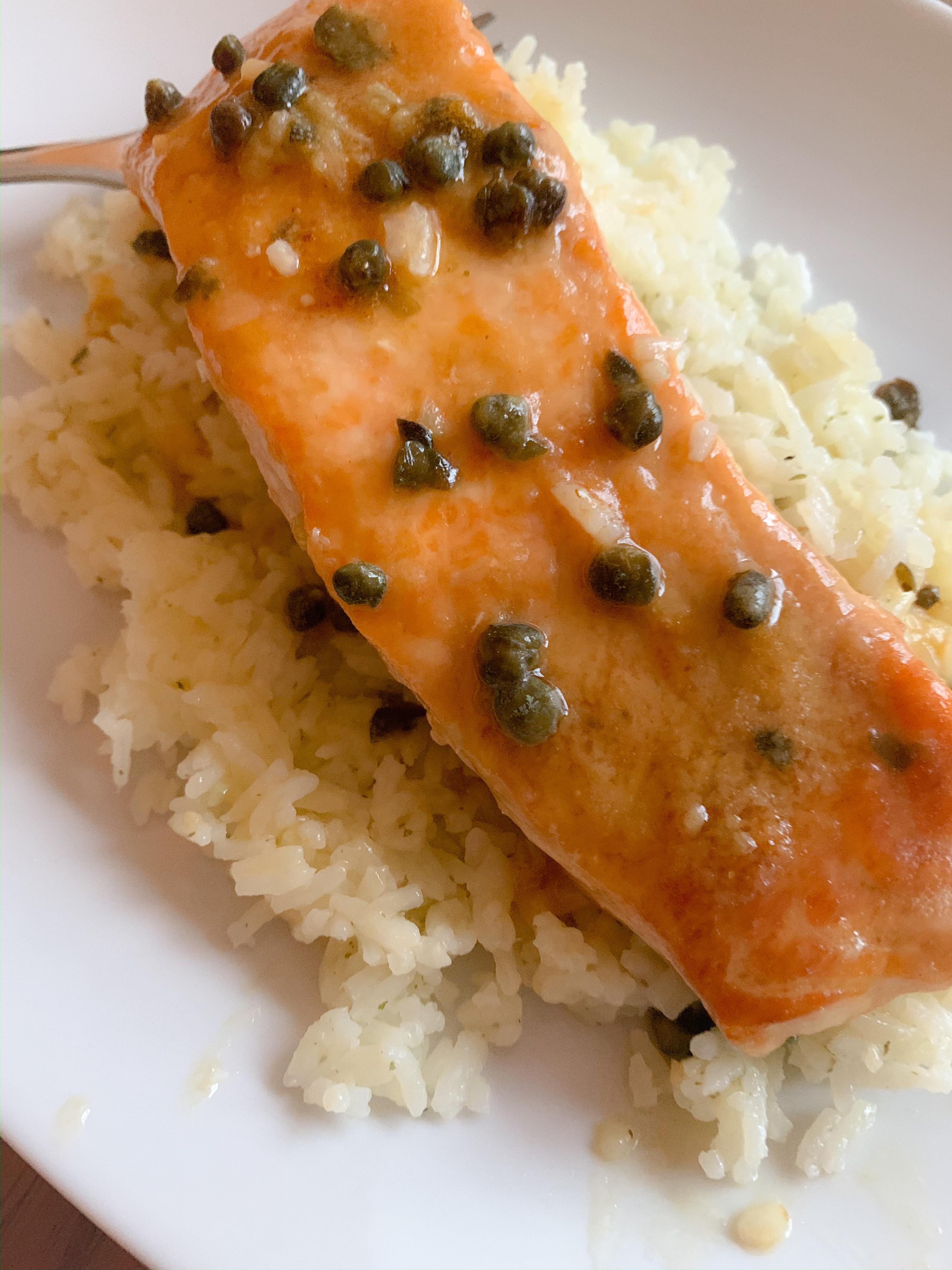 Quick Salmon Piccata Gisele