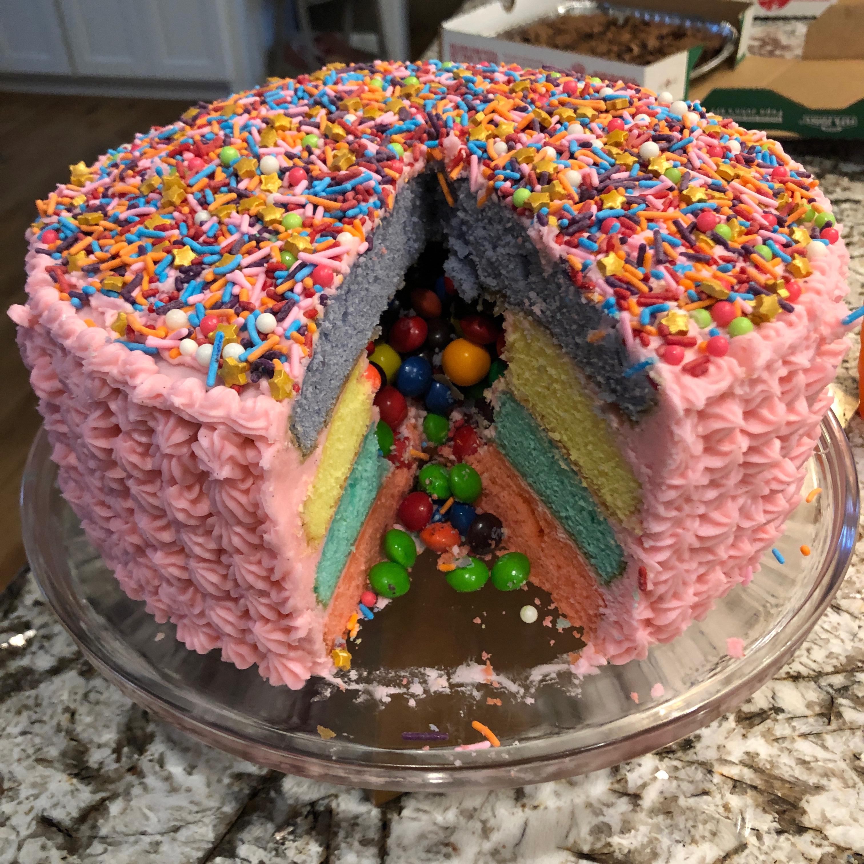 Rainbow Pinata Cake Mandy