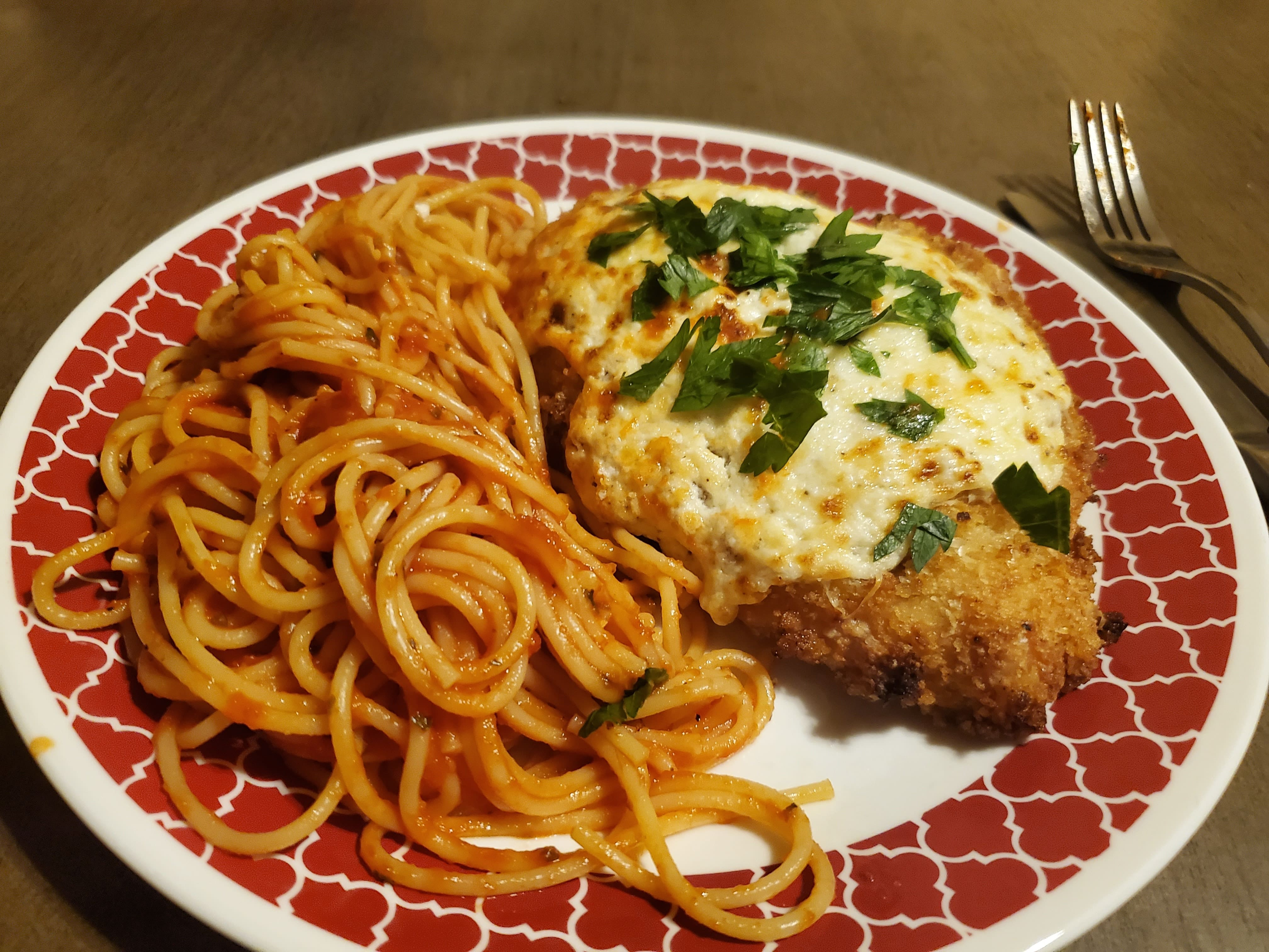New & Improved Chicken Parmesan