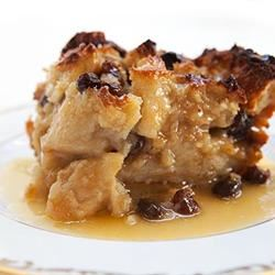 Bread Pudding with Raisins James Noble