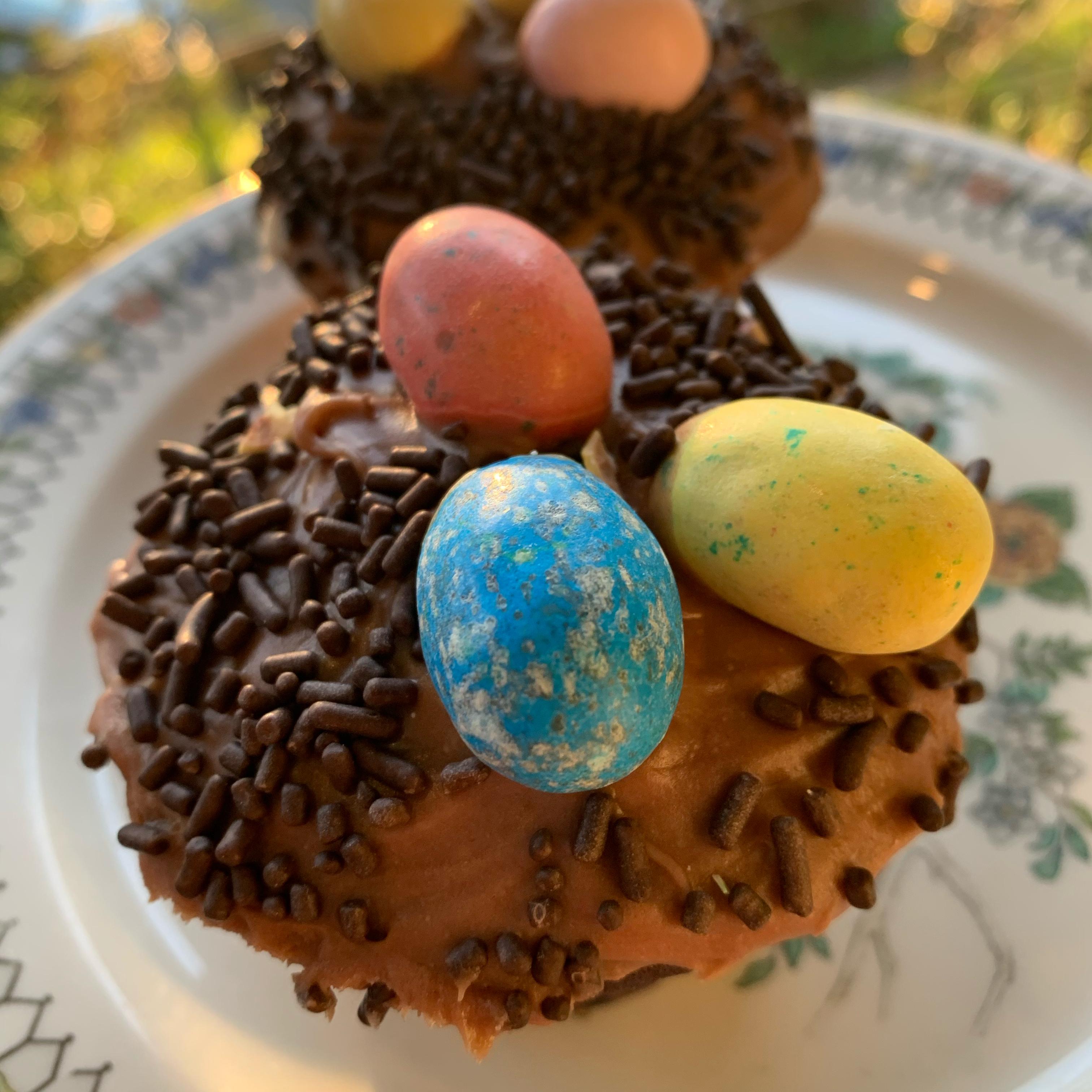 Easter Bird Nest Cupcakes barbara