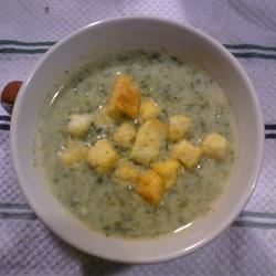 Spinach and Blue Cheese Soup Paula