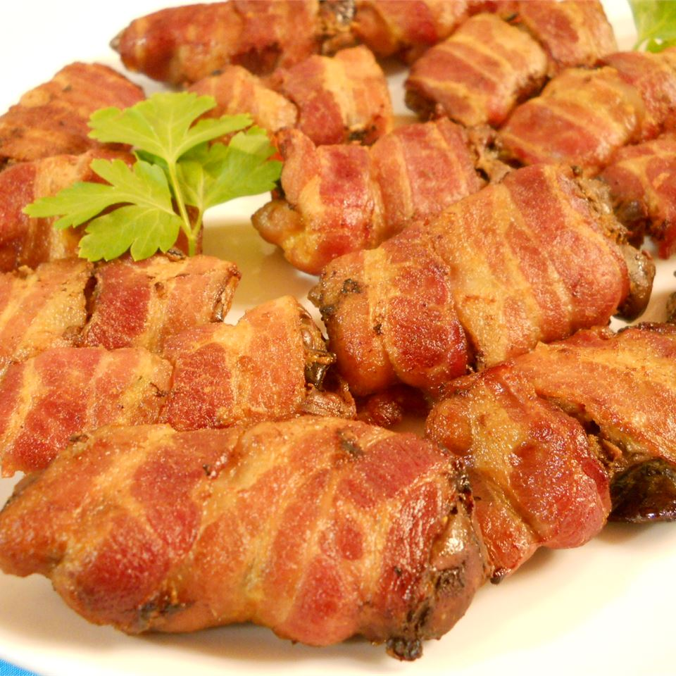 Baked Chicken Livers with Bacon