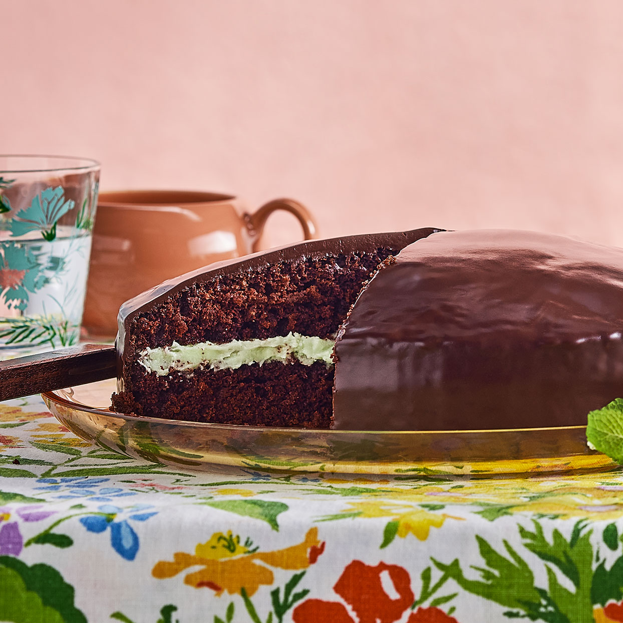 This mint chocolate cake is an homage to Andes Crème de Menthe Thins. It's rich and quite easy to whip up. Add a touch of food coloring to make the mint buttercream filling pale green if you'd like. Source: EatingWell Magazine, May 2020