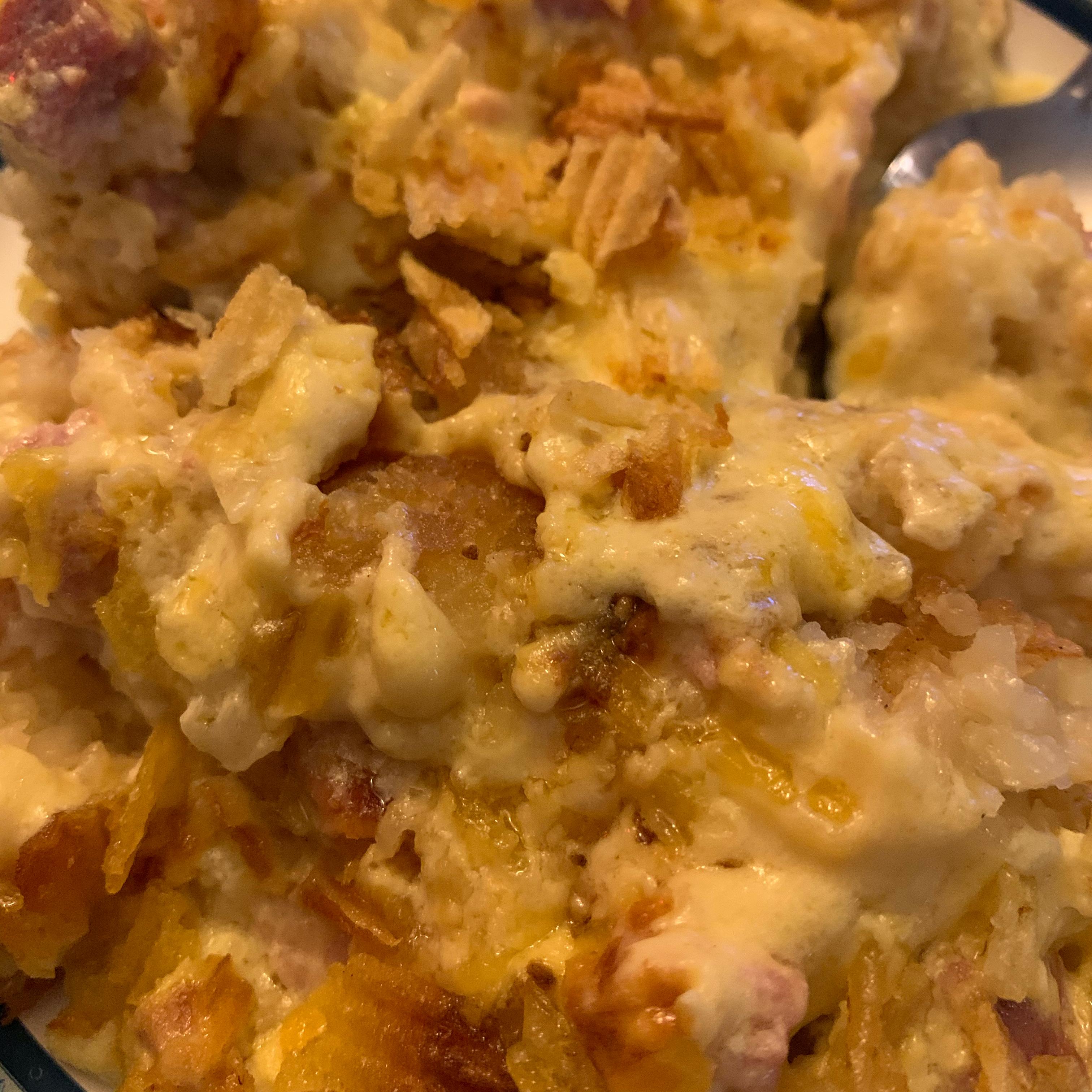 Cheesy Ham Potato Bake