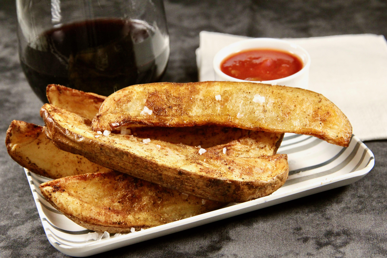 Air Fryer Spanish Potato Wedges lutzflcat
