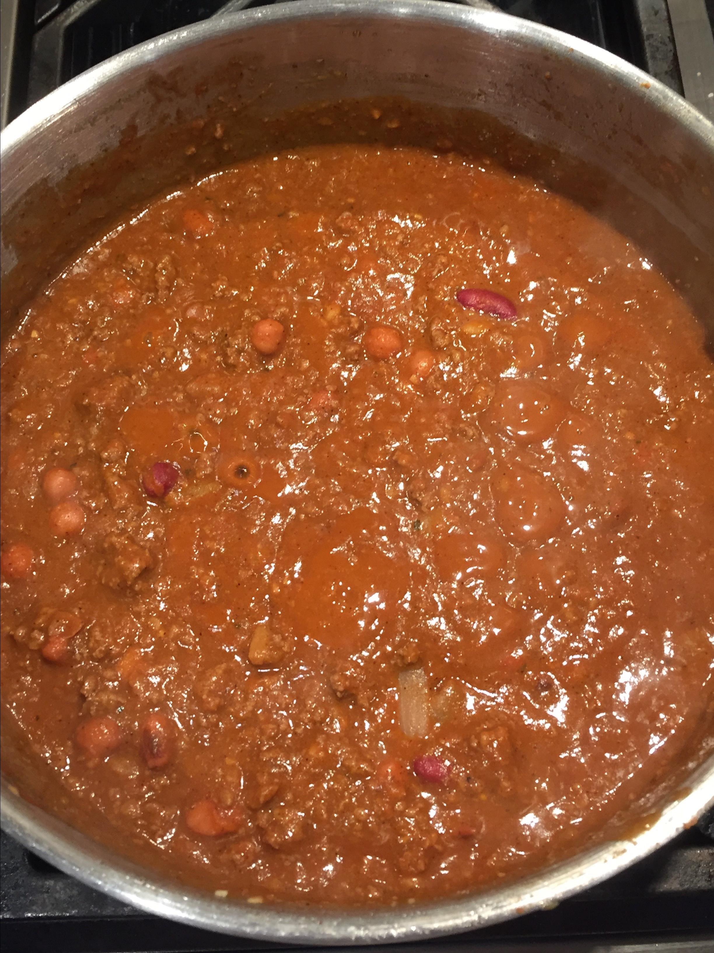Beef, Bean, and Beer Chili Miraclemom