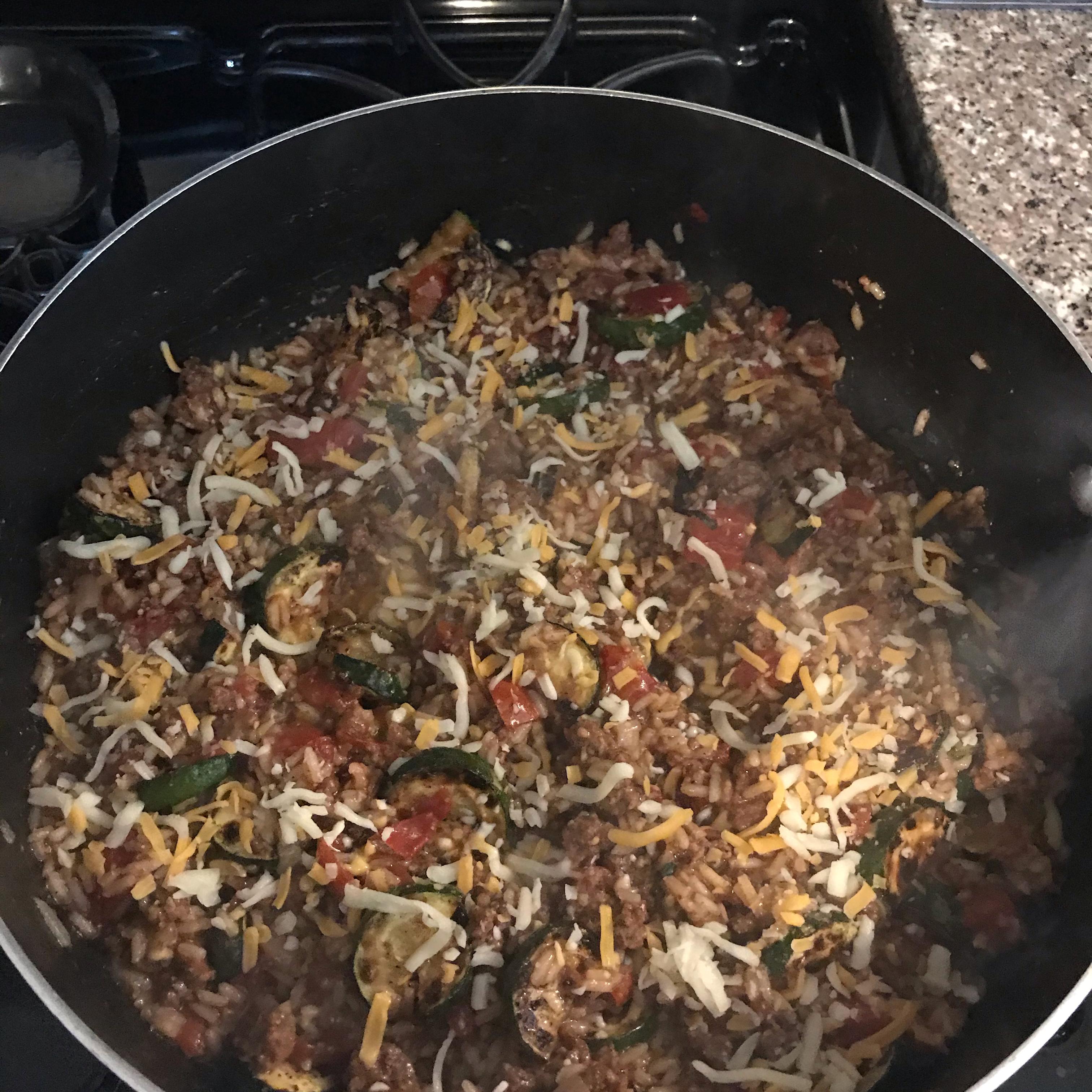 Cheeseburger Rice Skillet