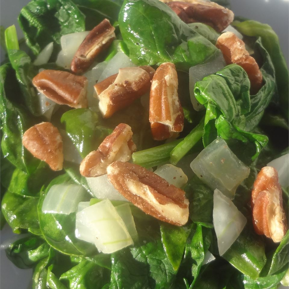 Spinach with Pecans Lori