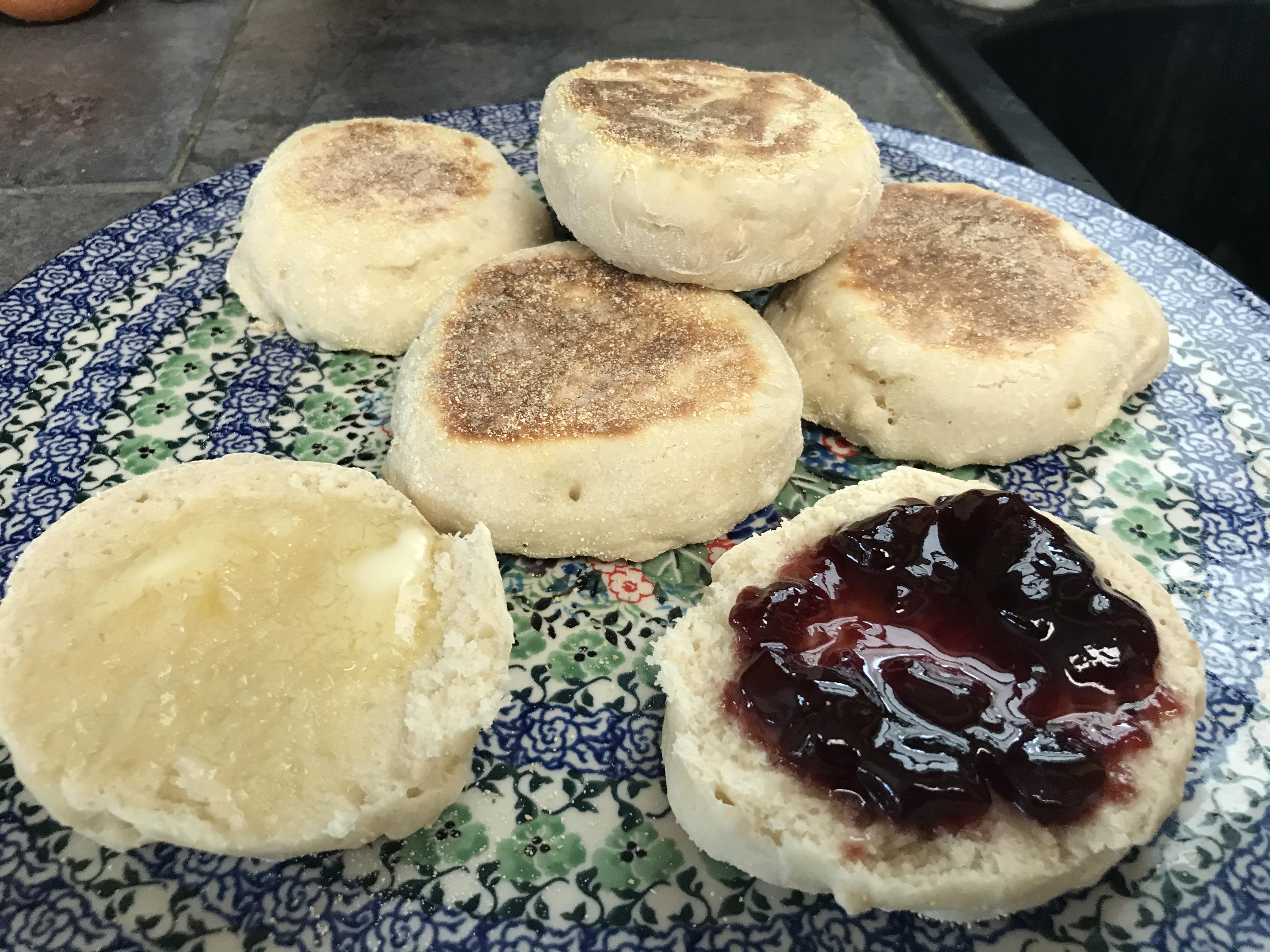 Sourdough English Muffins Kristine