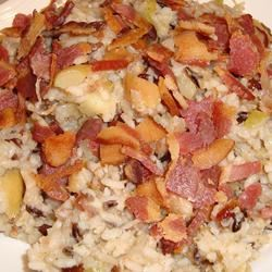 Rice Stuffing with Apples, Herbs, and Bacon