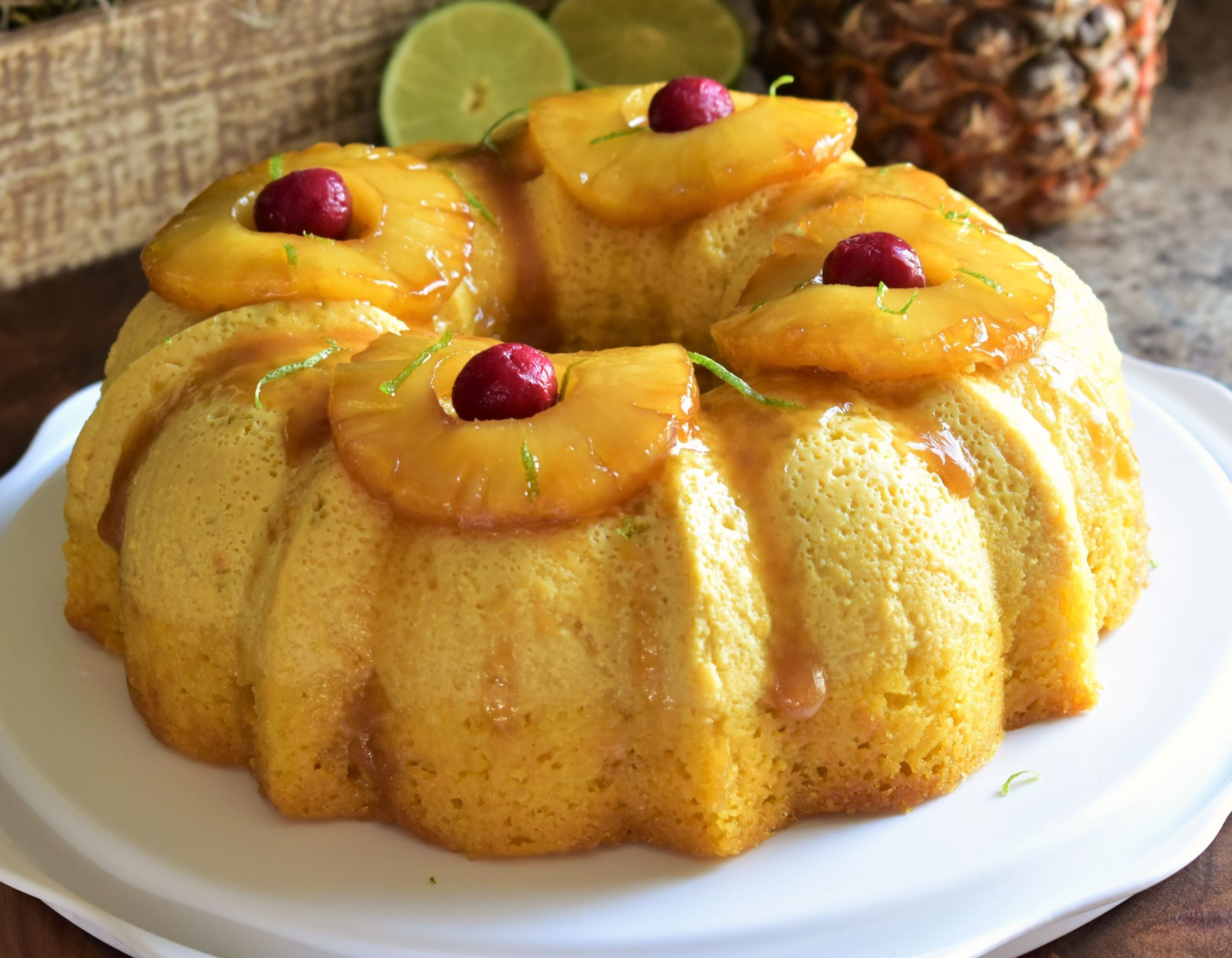 Pineapple-Lime Impossible Cake