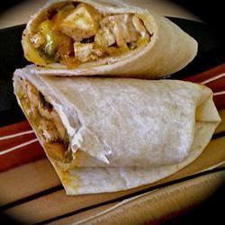 Fajita-Style Vegan Tofu Burrito