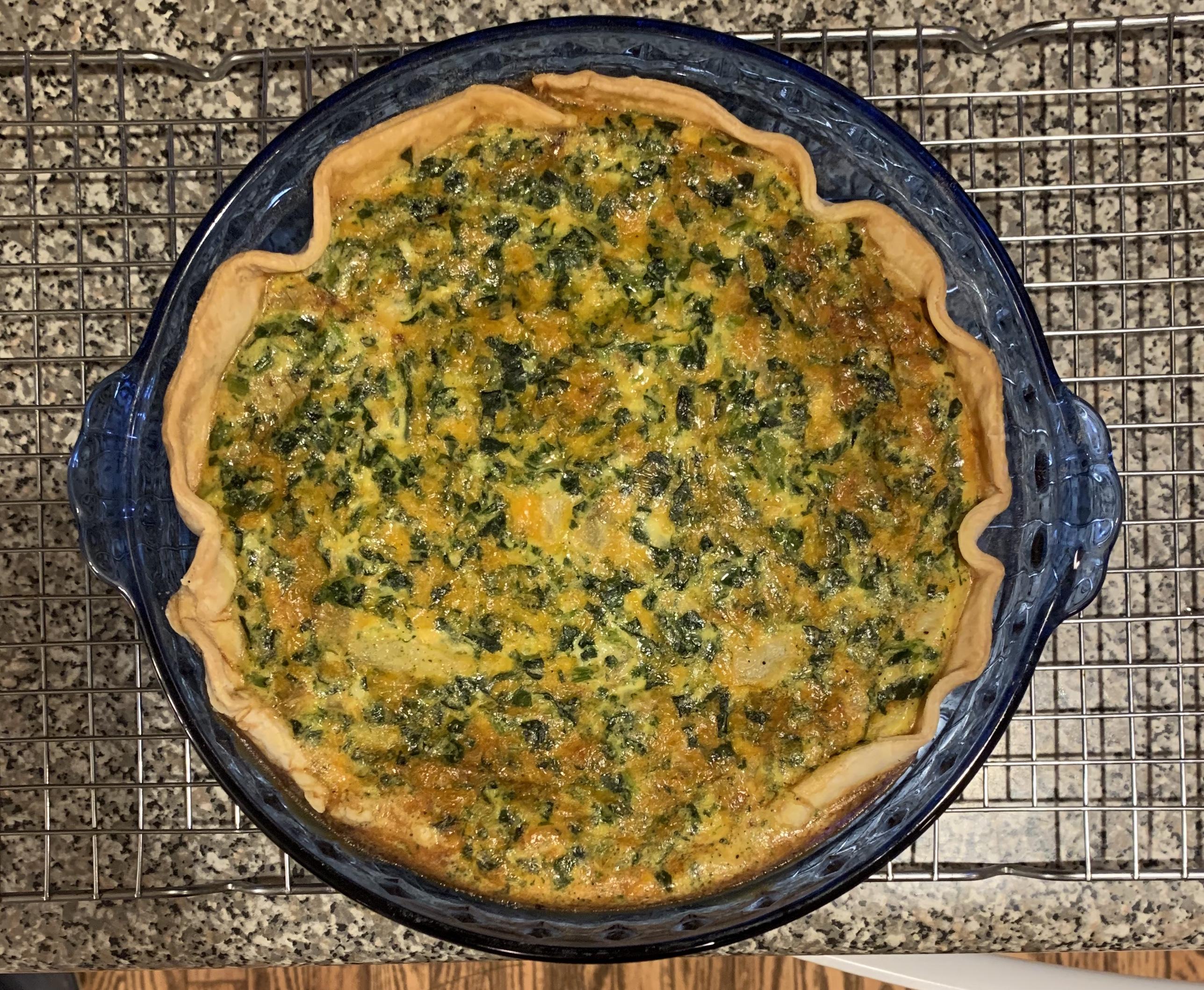 Quick Spinach Quiche Divina Joy Buley