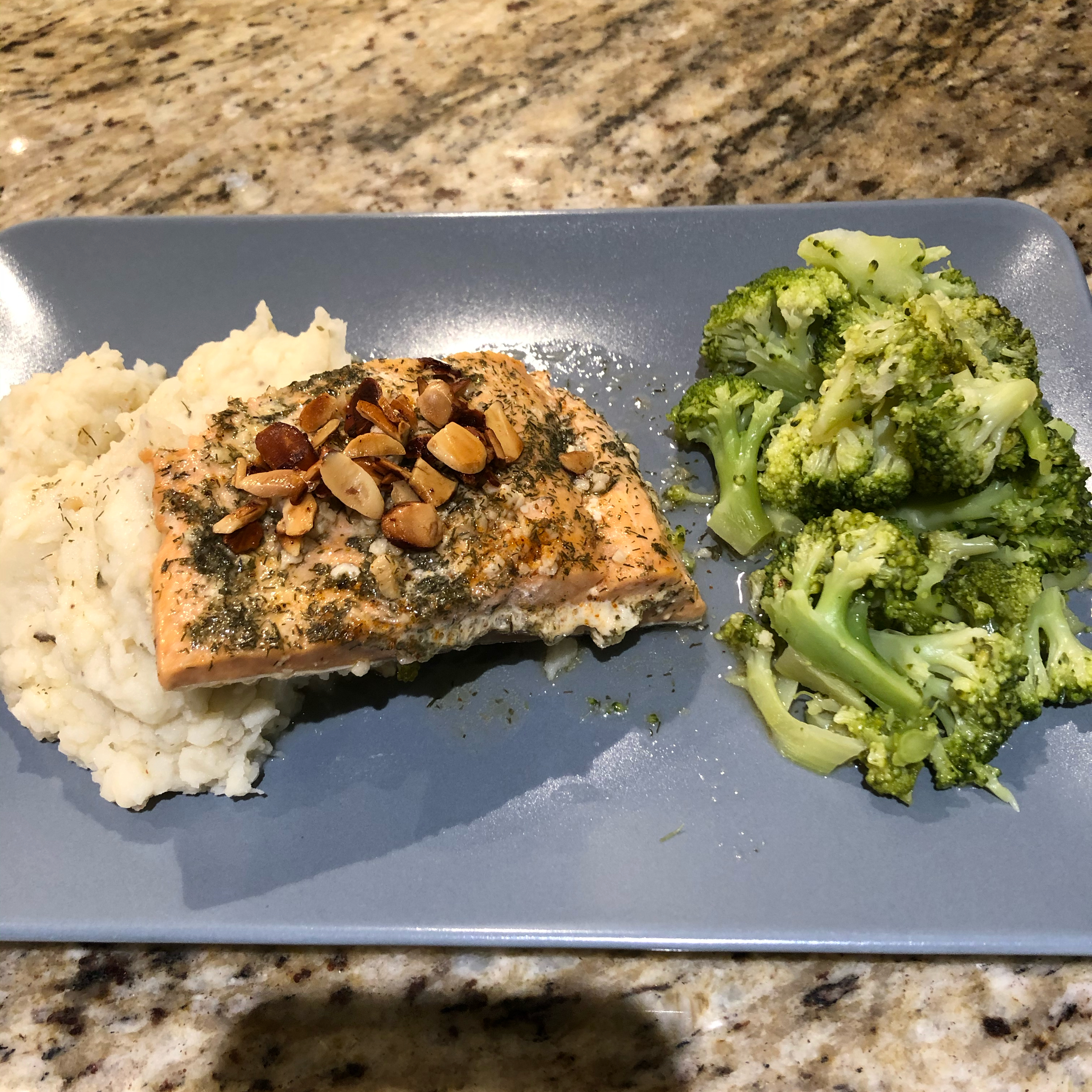 Lemon Dill Salmon with Garlic, White Wine, and Butter Sauce