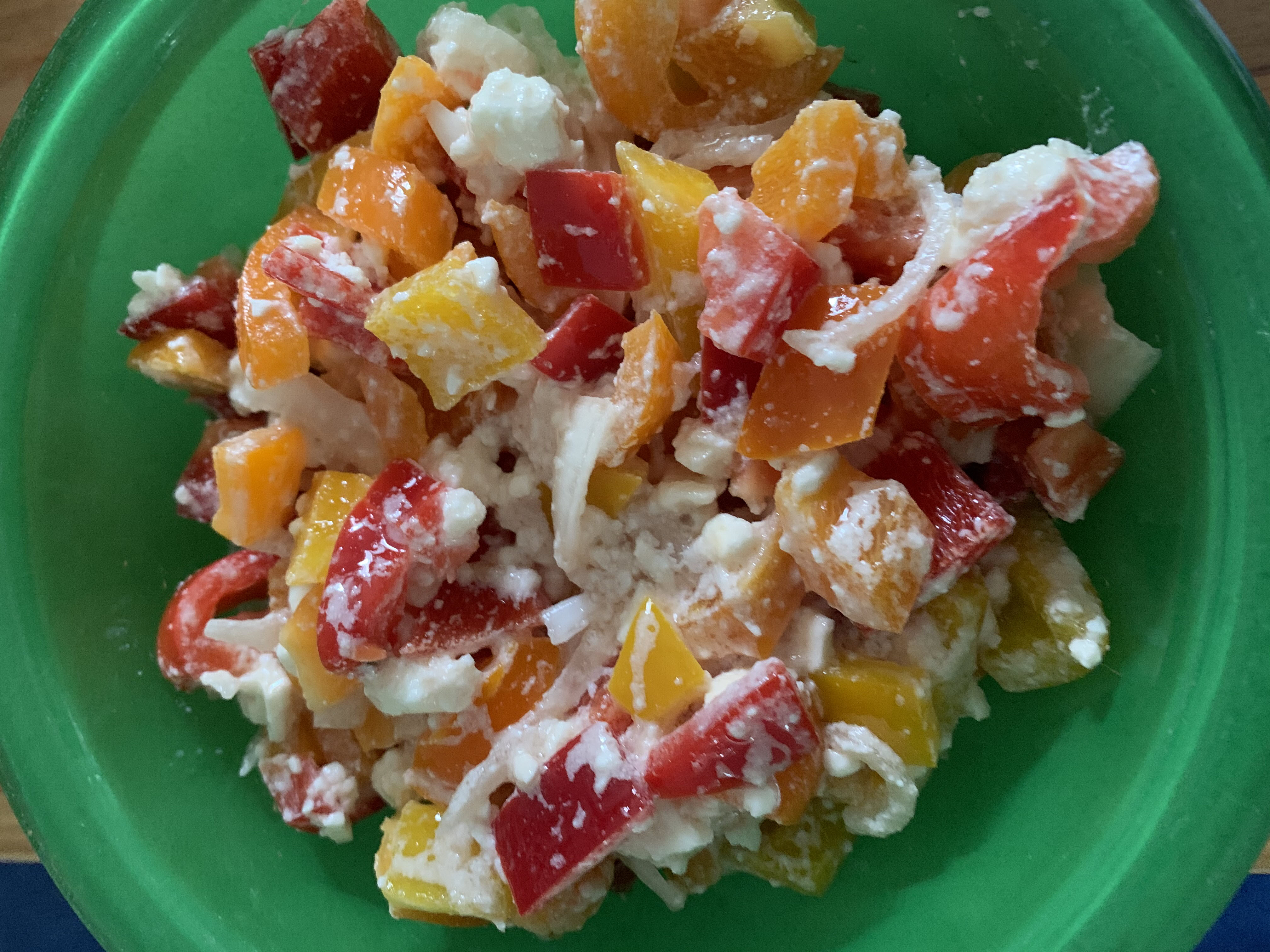 Bell Pepper, Tomato, and Feta Salad Marianne