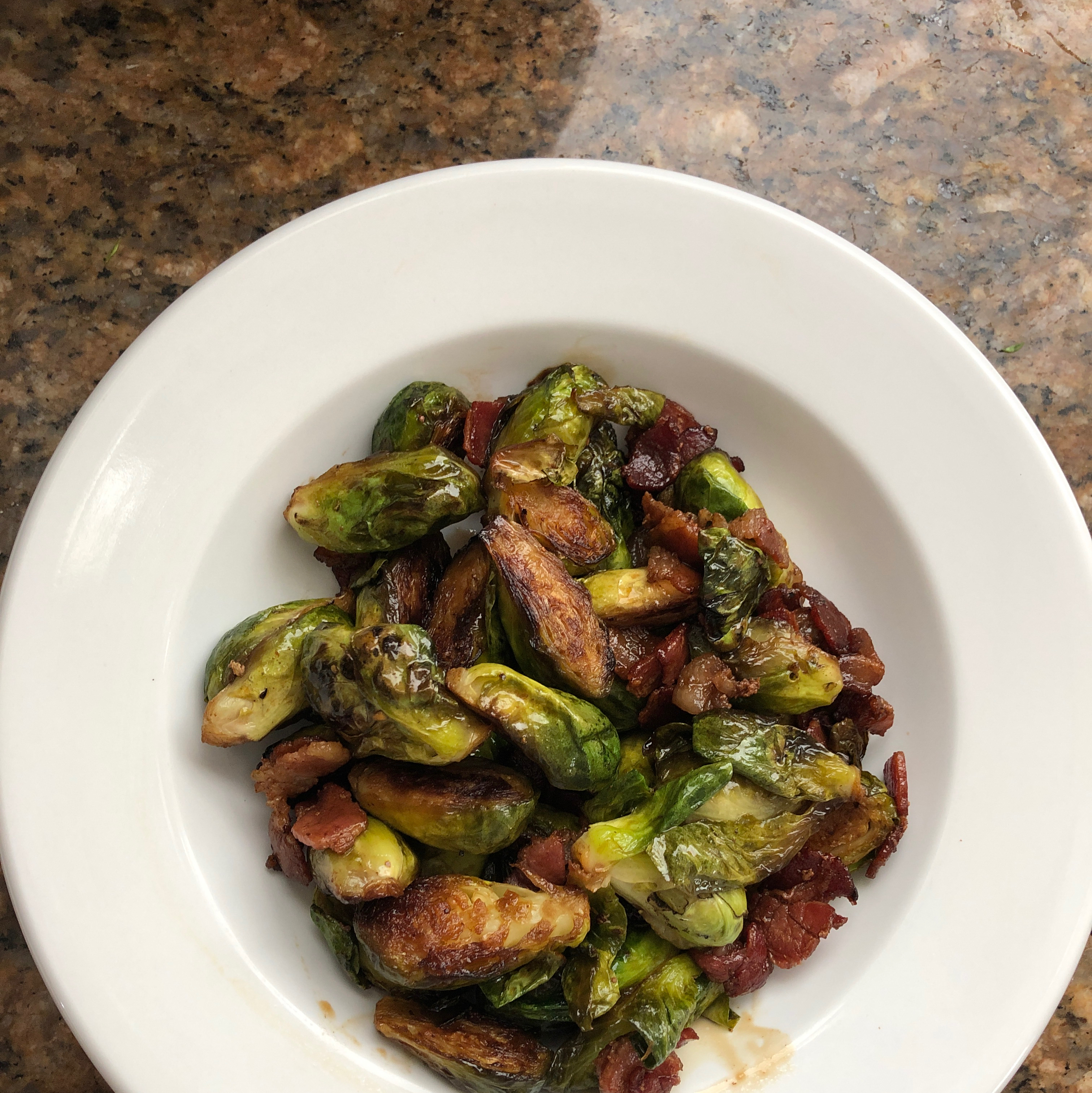 Brussels Sprouts with Bacon and Balsamic Alana Heusser