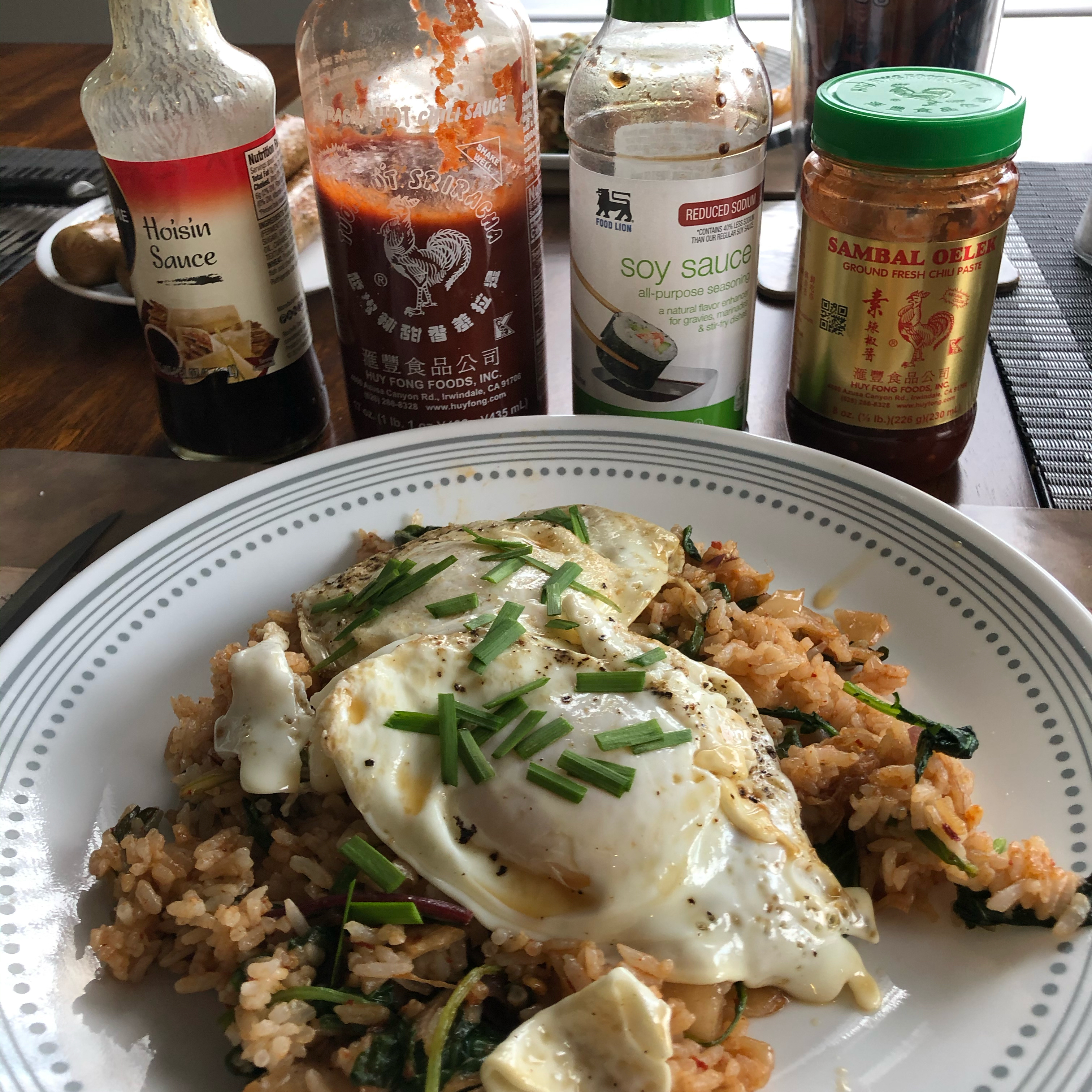 Kimchi Fried Rice with Frizzled Eggs Anita wade