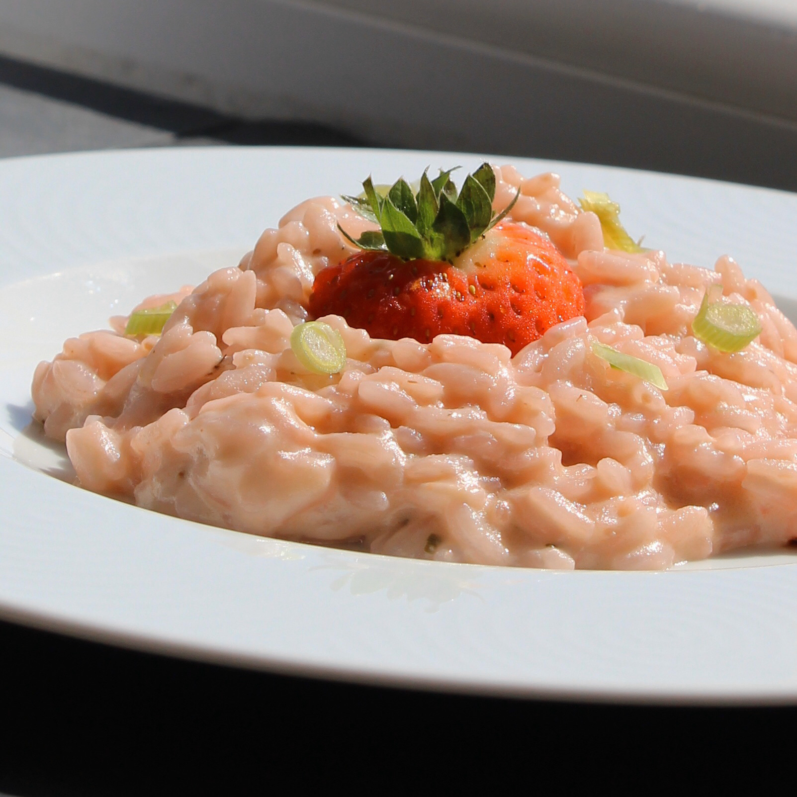Spring Prosecco Strawberry Risotto for Two