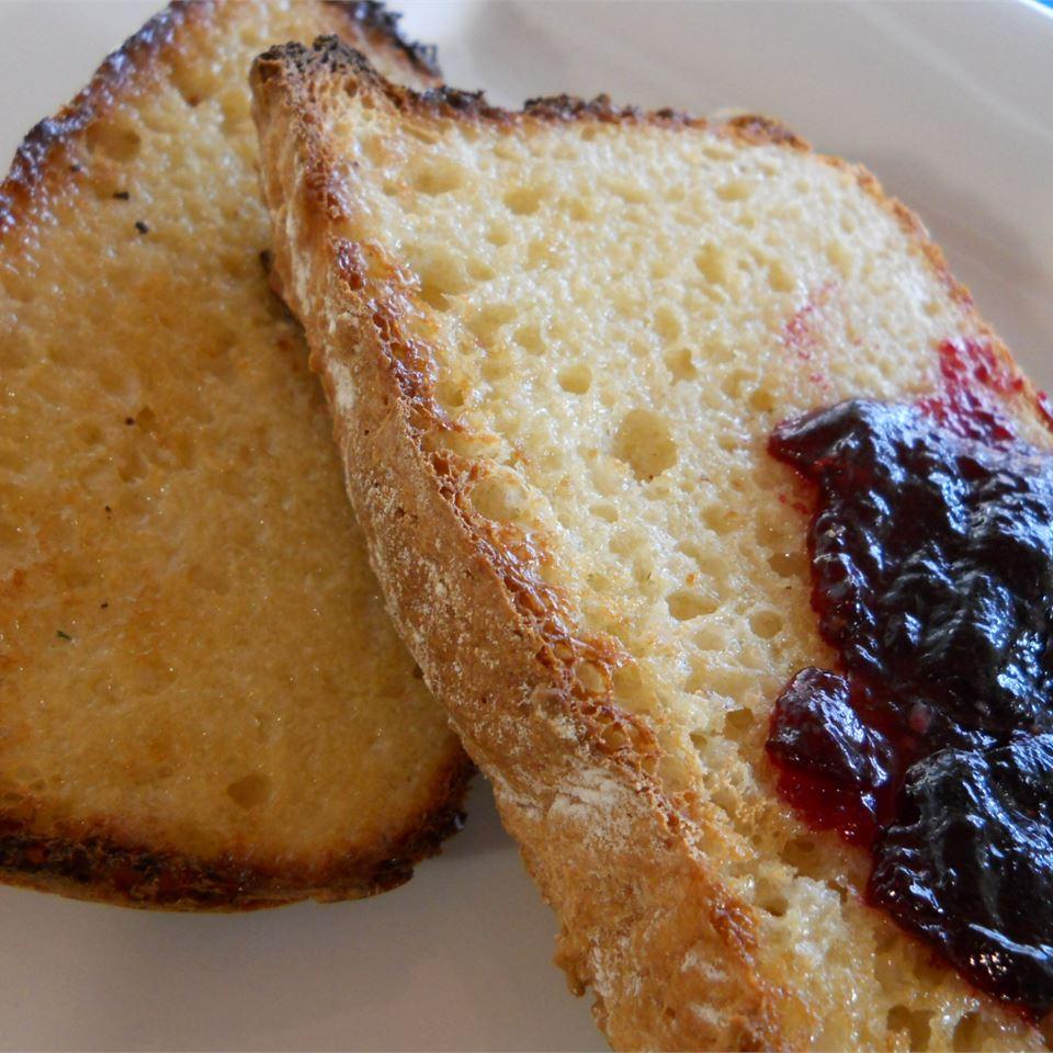 No-Knead English Muffin Loaves