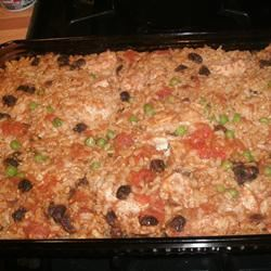 Curried Chicken and Brown Rice Casserole