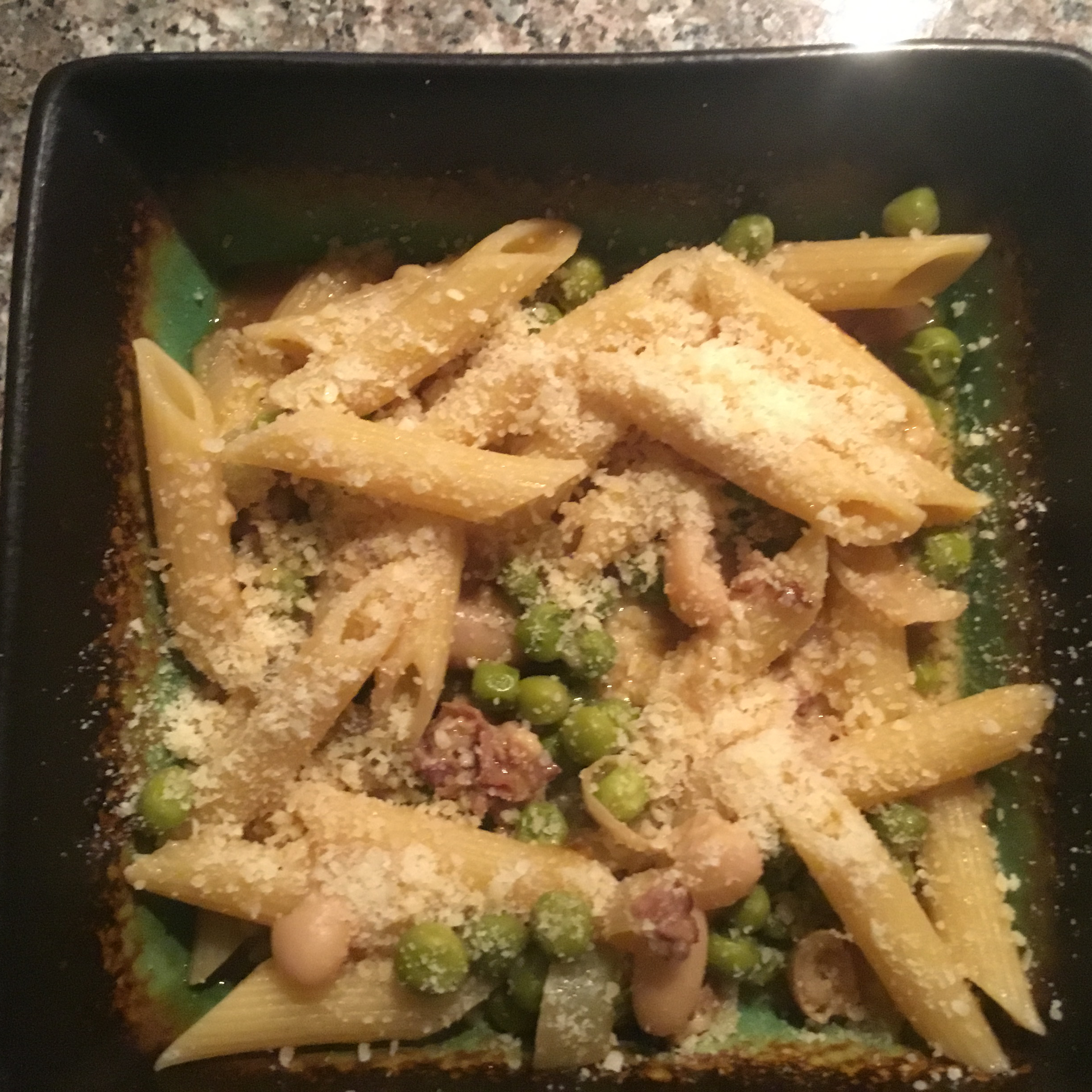 Penne Pasta with Peas and Prosciutto Mike G