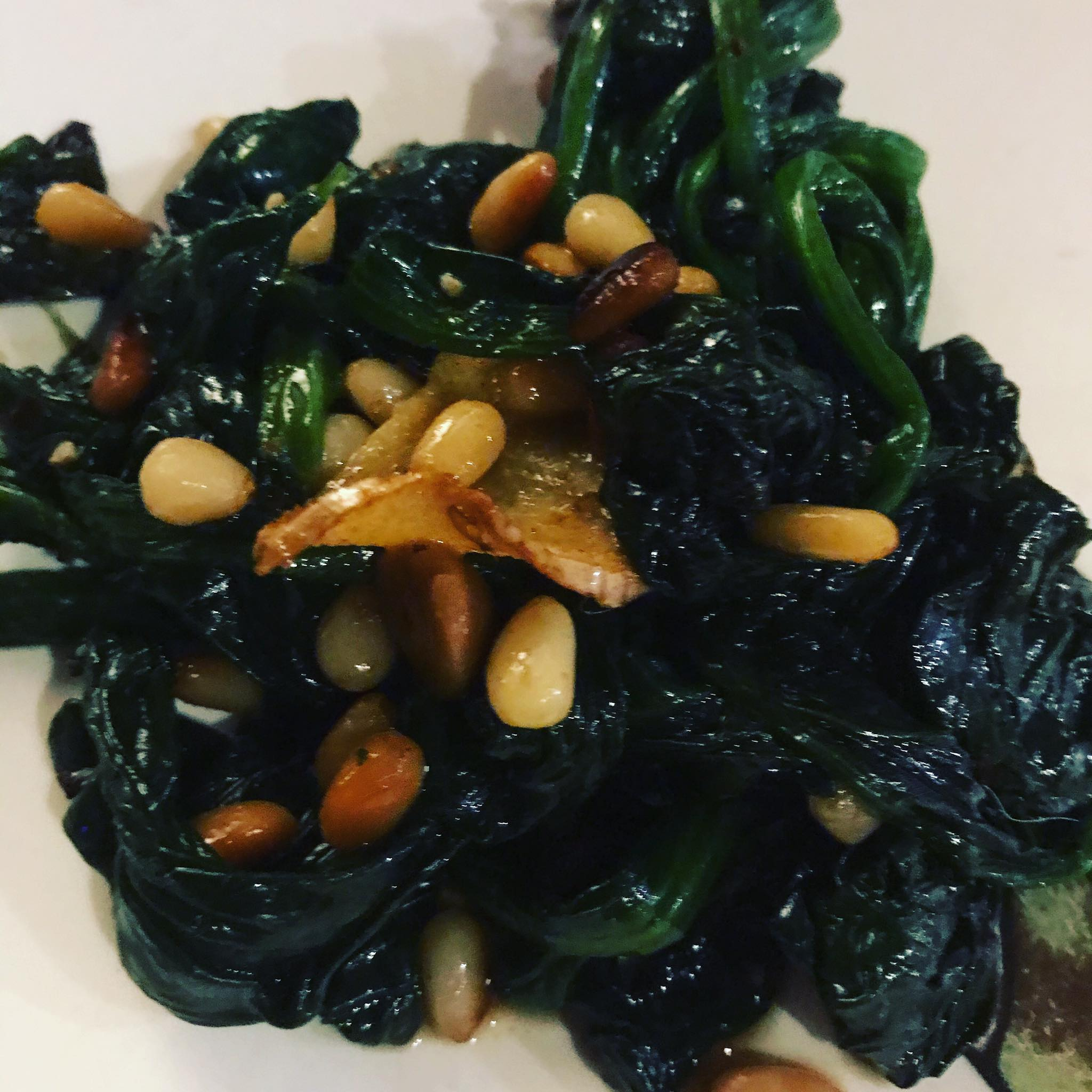 Spinach and Pine Nuts